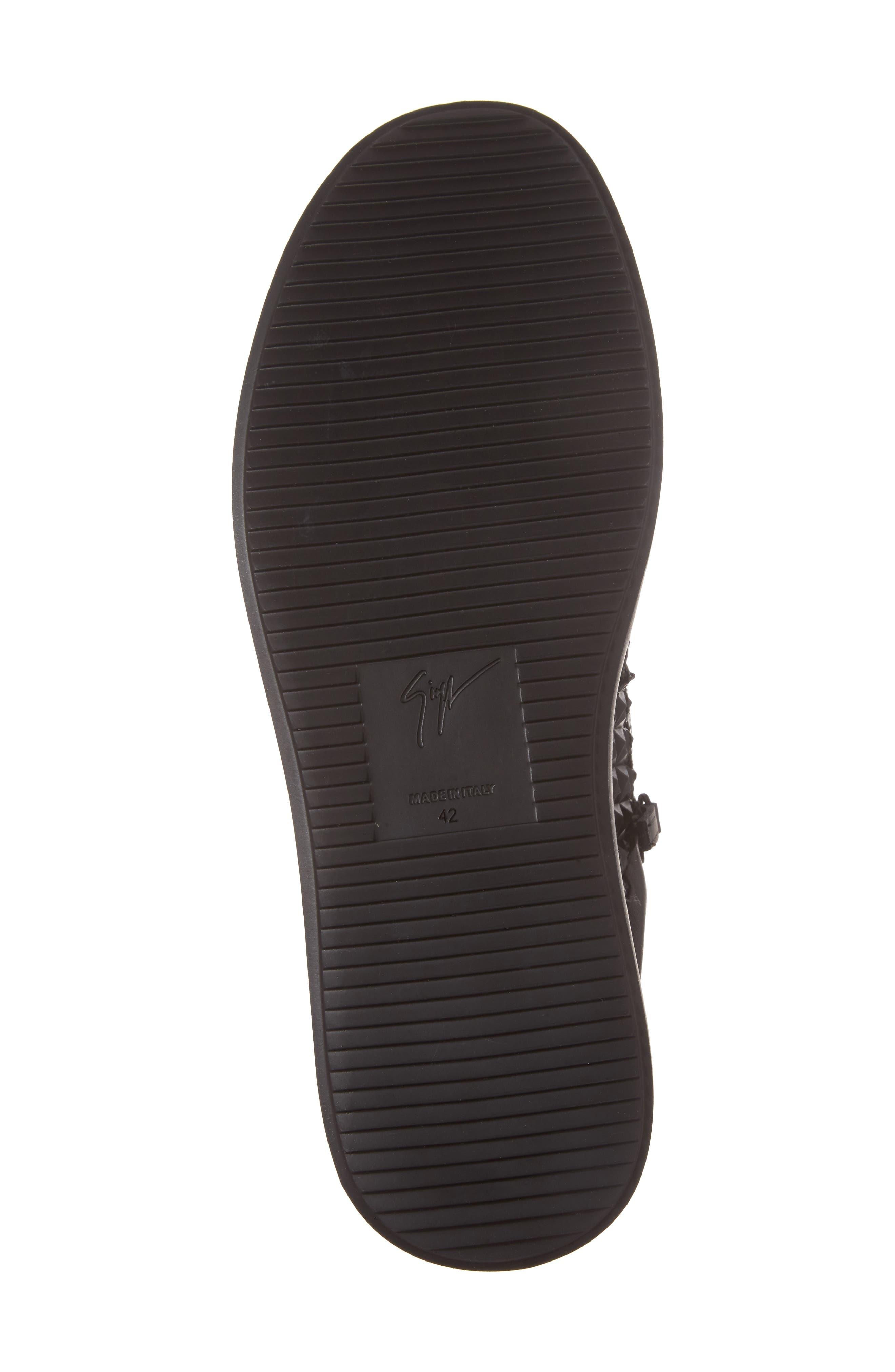 Alternate Image 6  - Giuseppe Zanotti Geo Embossed Zip Sneaker (Men)