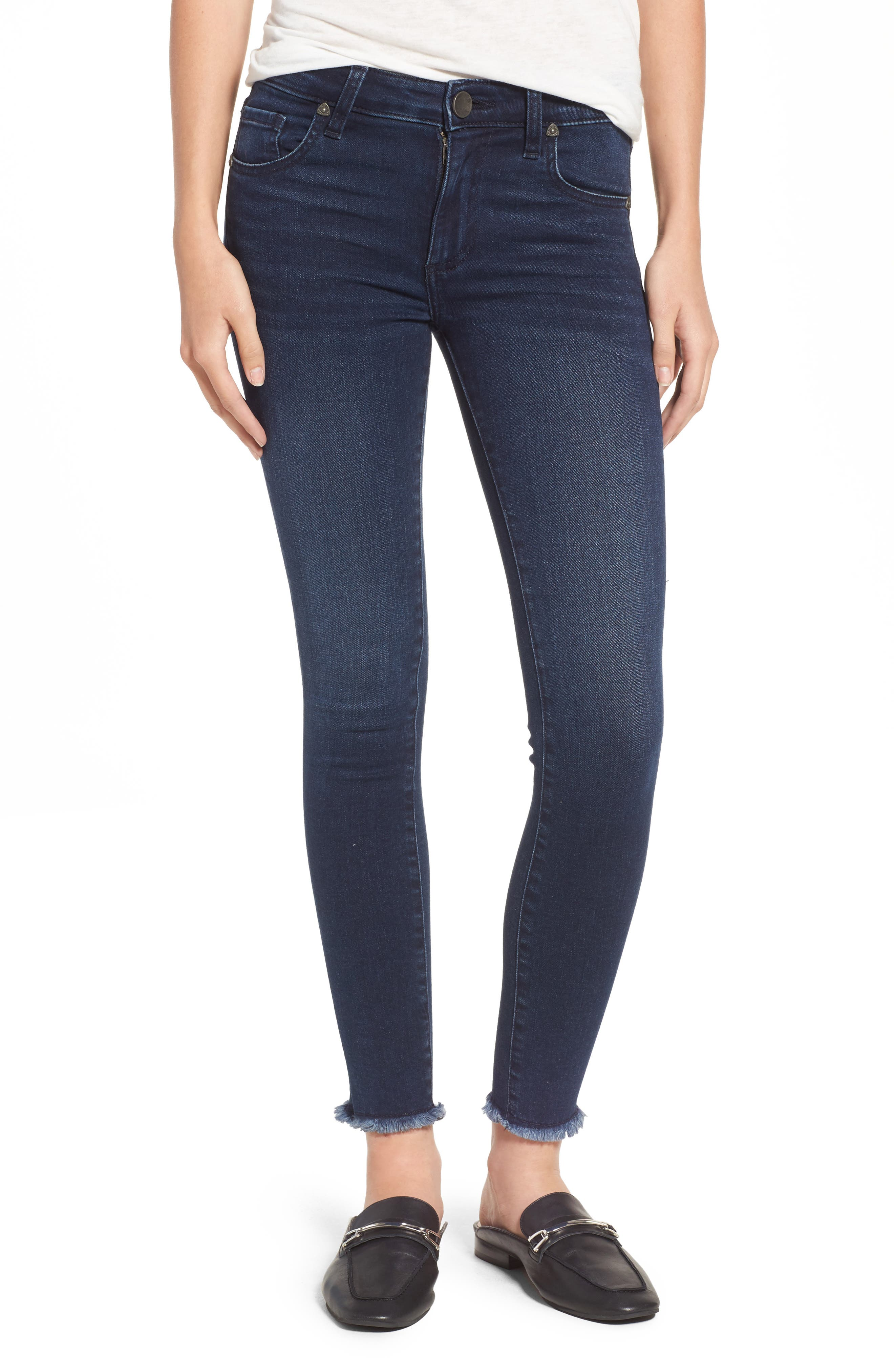 Alternate Image 1 Selected - KUT from the Kloth Connie Skinny Ankle Jeans (Bloomed) (Regular & Petite)