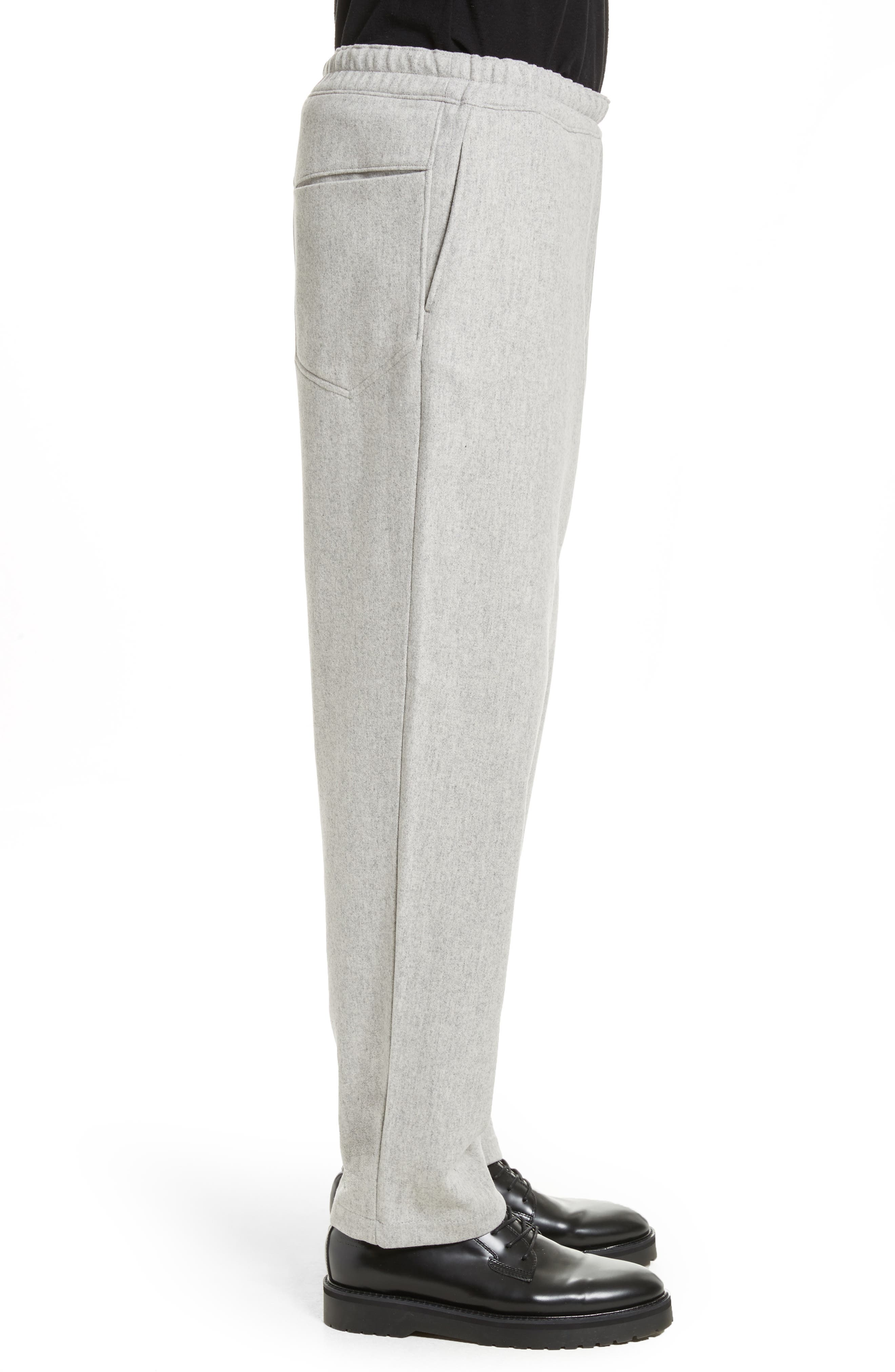 Mélange Wool Blend Trousers,                             Alternate thumbnail 3, color,                             Light Grey Melange