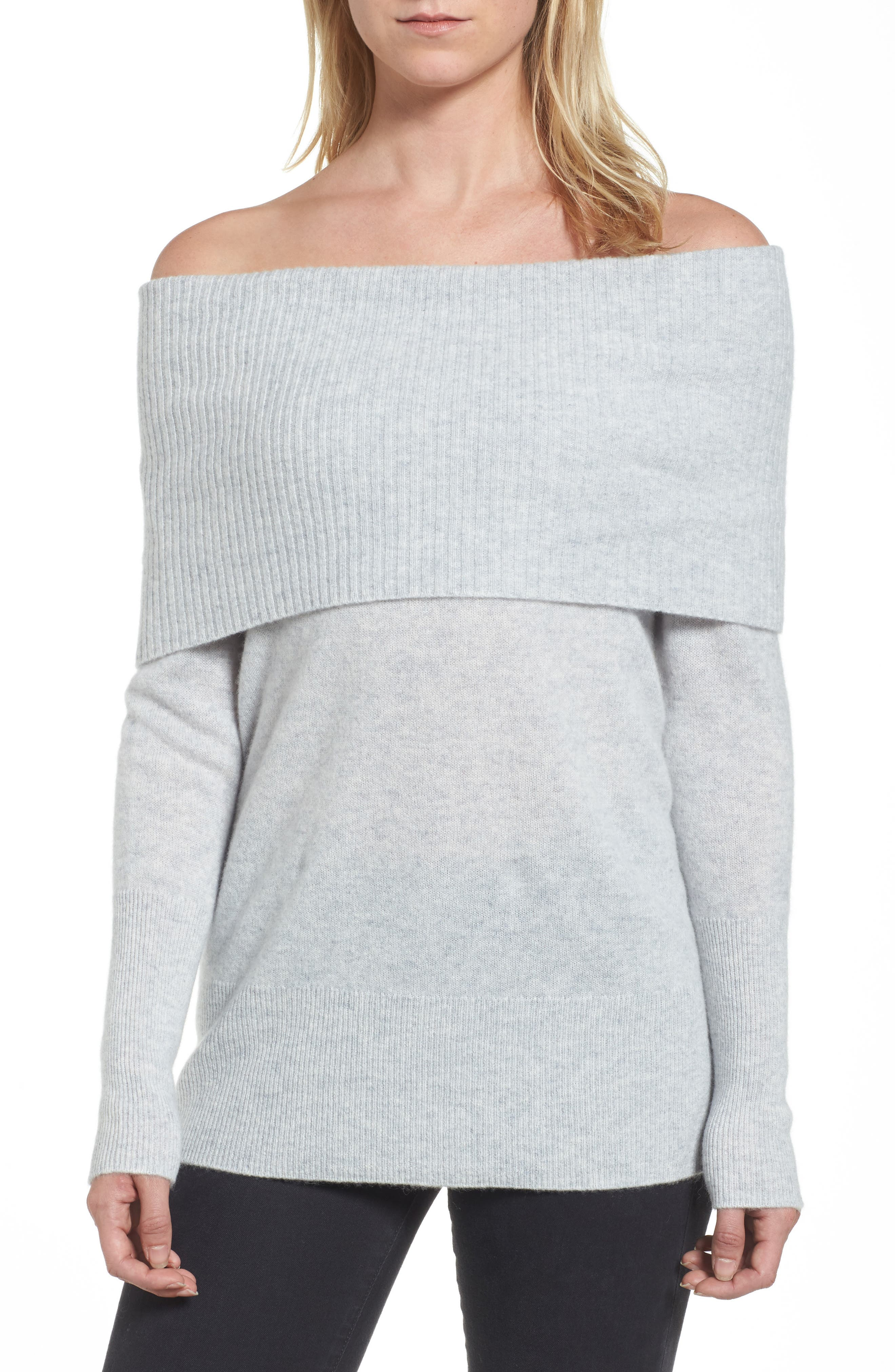 Halogen® Convertible Cowl Cashmere Sweater (Regular & Petite)