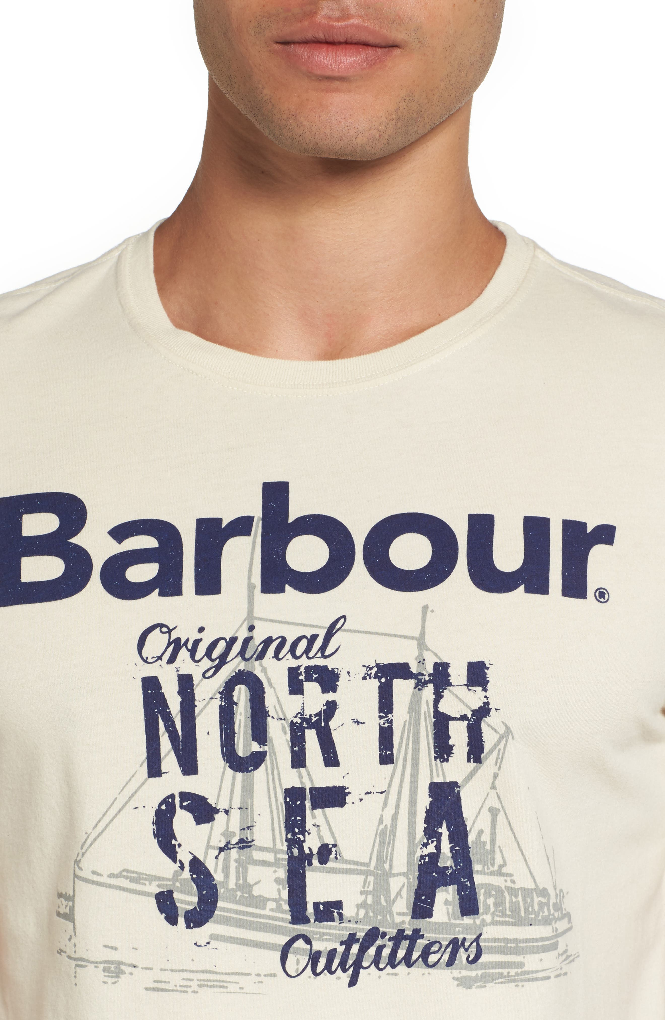 Alternate Image 4  - Barbour Blade Slim Fit Logo Graphic T-Shirt