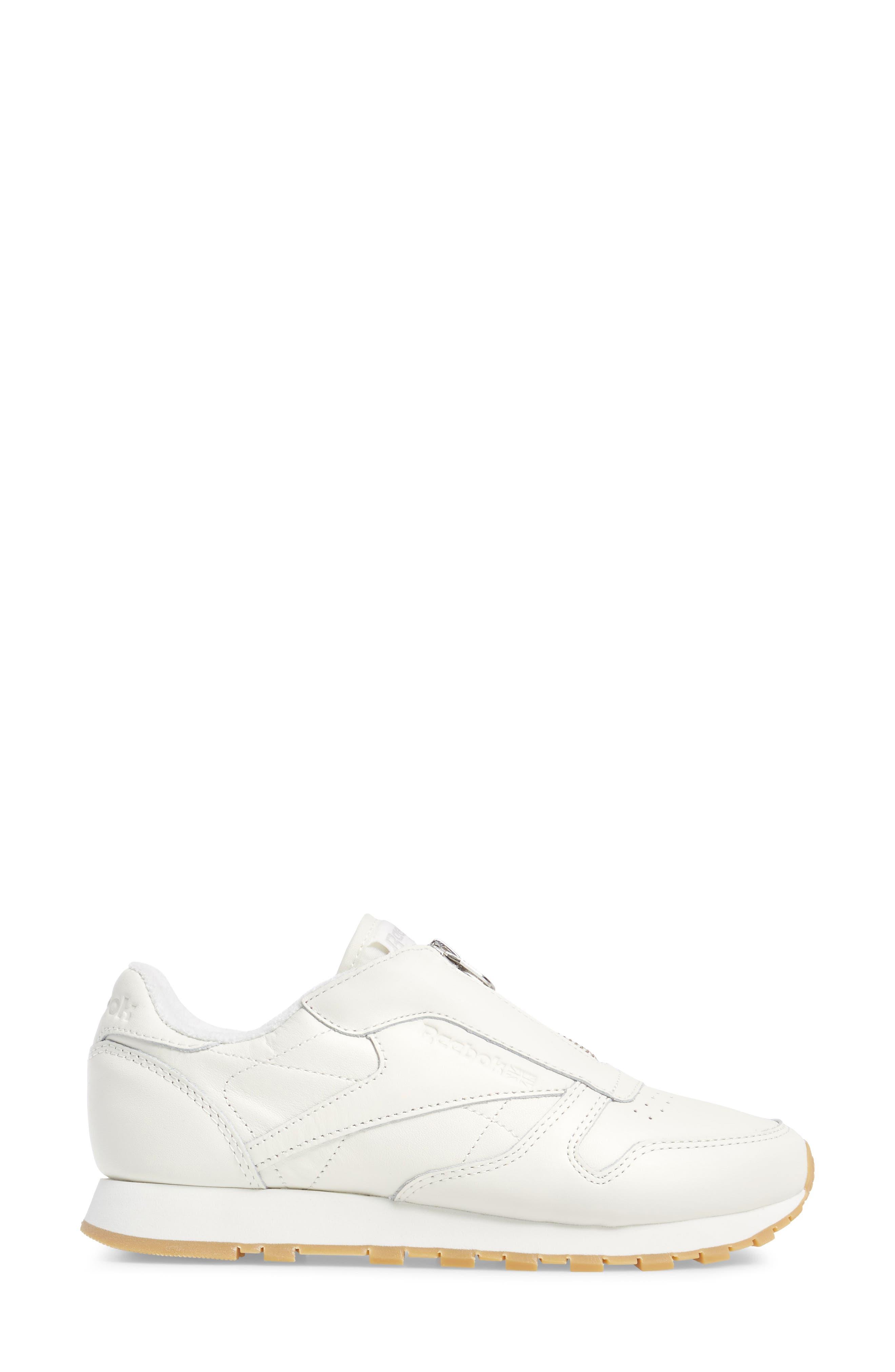 Alternate Image 3  - Reebok Classic Leather Zip Sneaker (Women)
