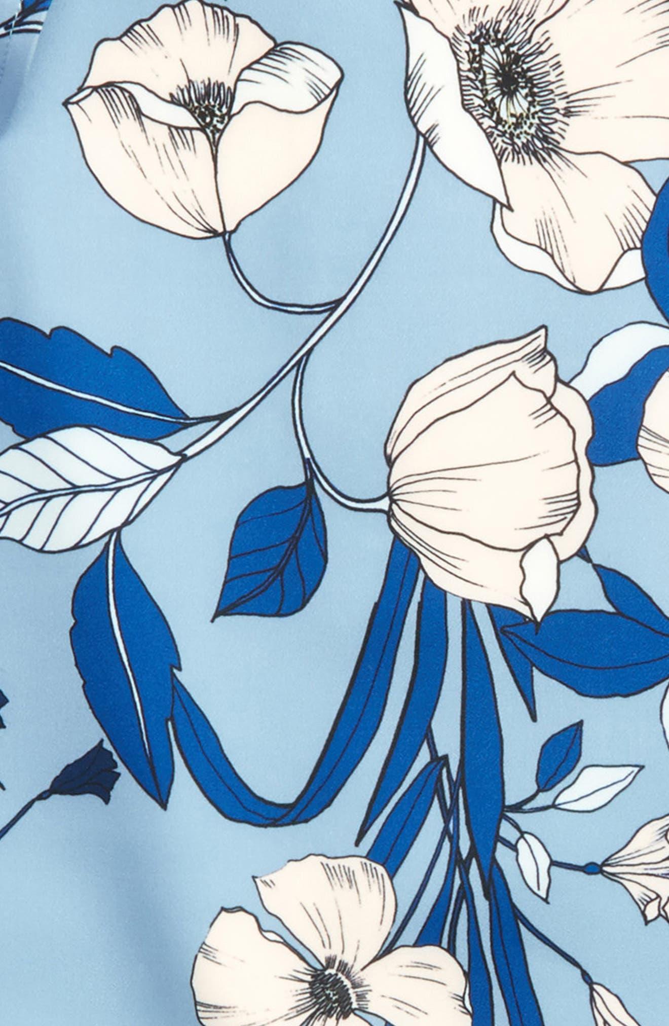 Maia Floral Cold Shoulder Top,                             Alternate thumbnail 3, color,                             Botanica Bloom
