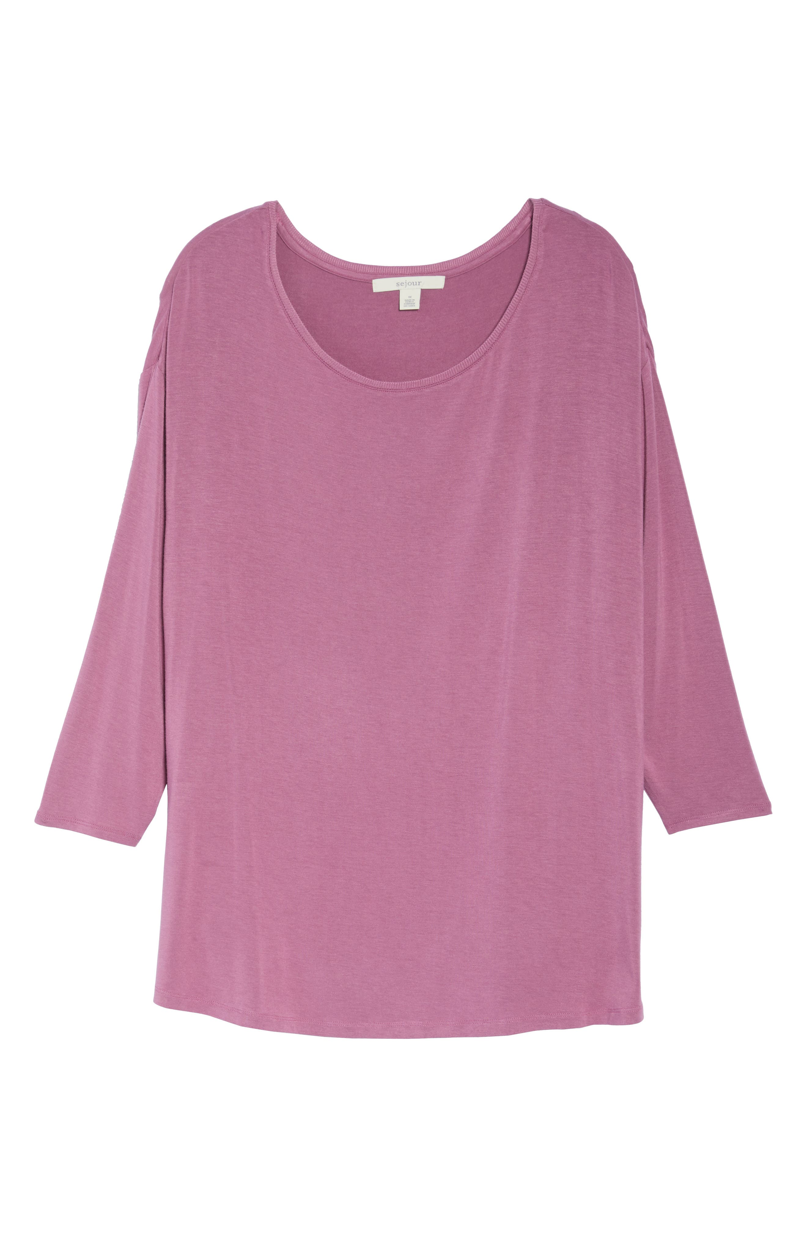 Scoop Neck Tee,                             Alternate thumbnail 6, color,                             Purple Syrup