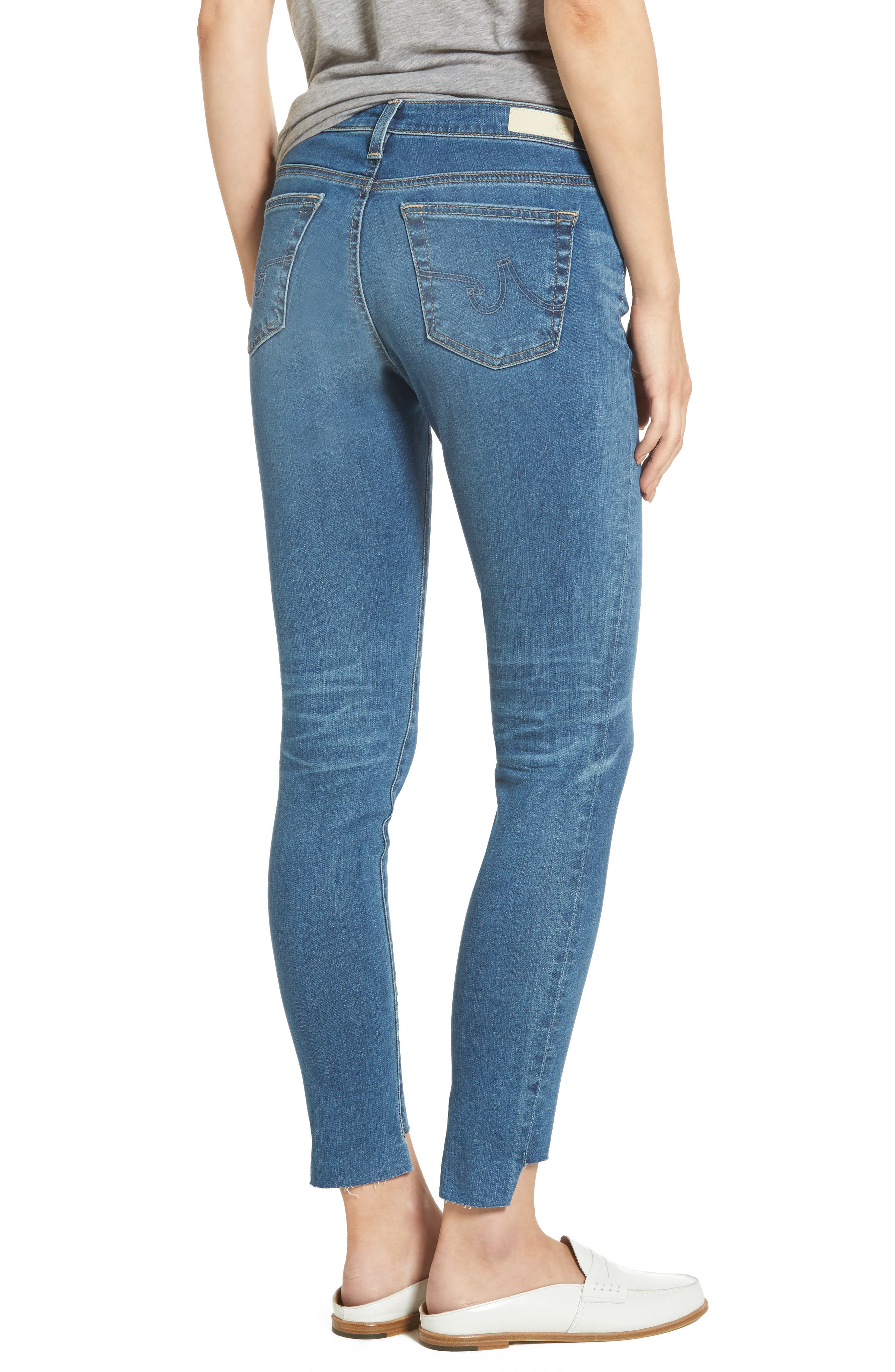 The Legging Step Hem Ankle Skinny Jeans,                             Alternate thumbnail 2, color,                             14 Years Blue Nile