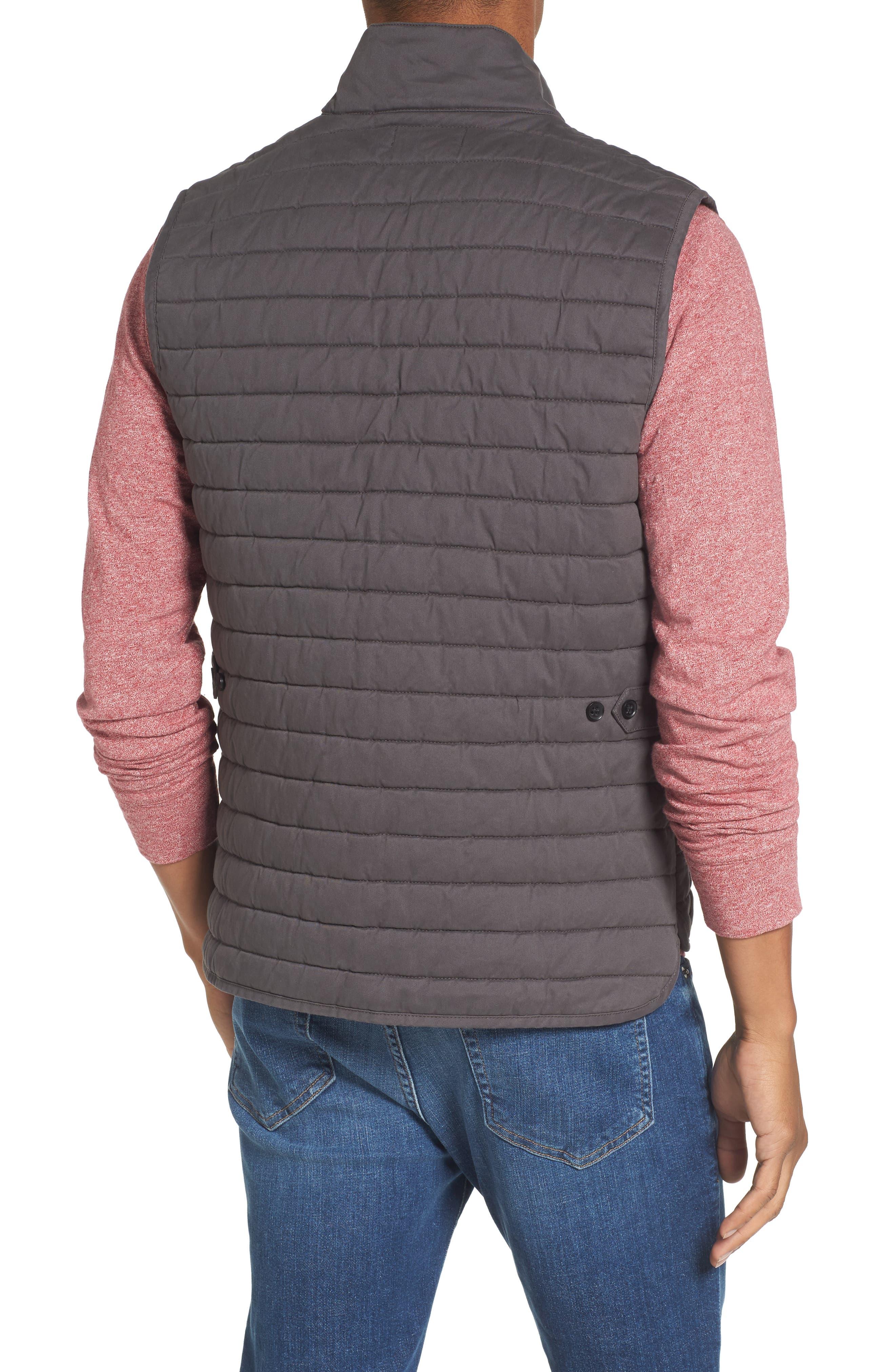 Alternate Image 2  - Nordstrom Men's Shop Quilted Twill Vest (Regular & Tall)