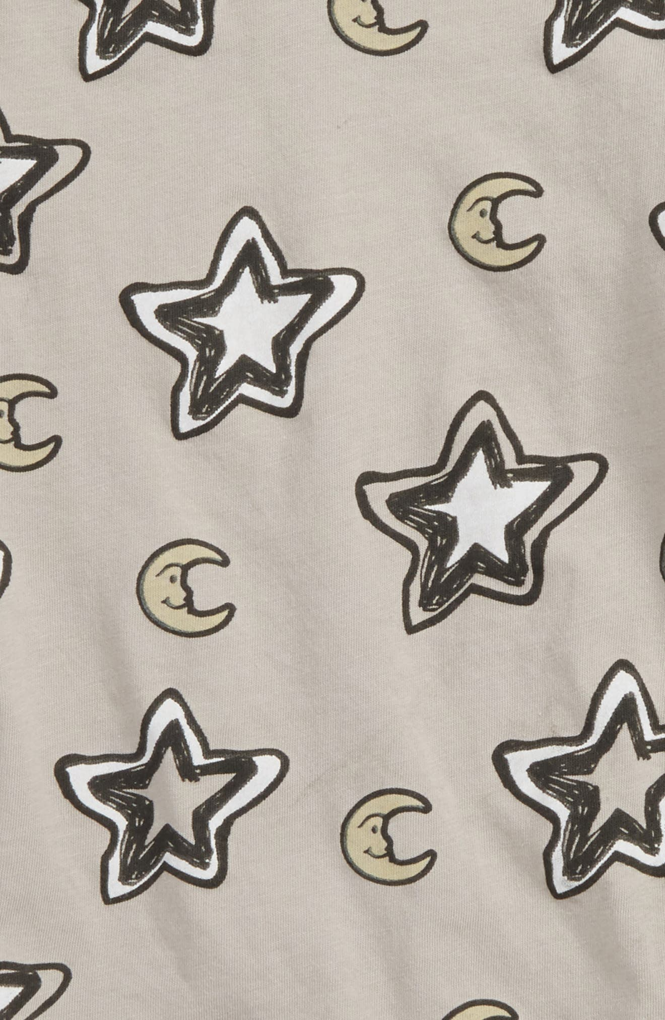 Peek Star & Moon Print T-Shirt,                             Alternate thumbnail 2, color,                             Grey