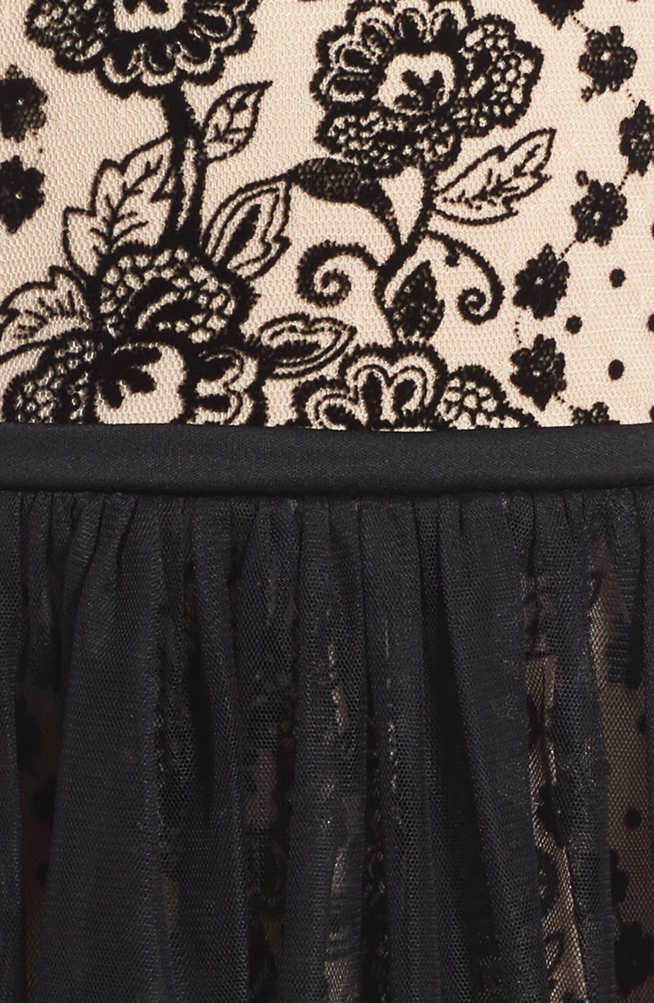 Alternate Image 3  - Frais Embroidered Mesh Dress (Toddler Girls, Little Girls & Big Girls)