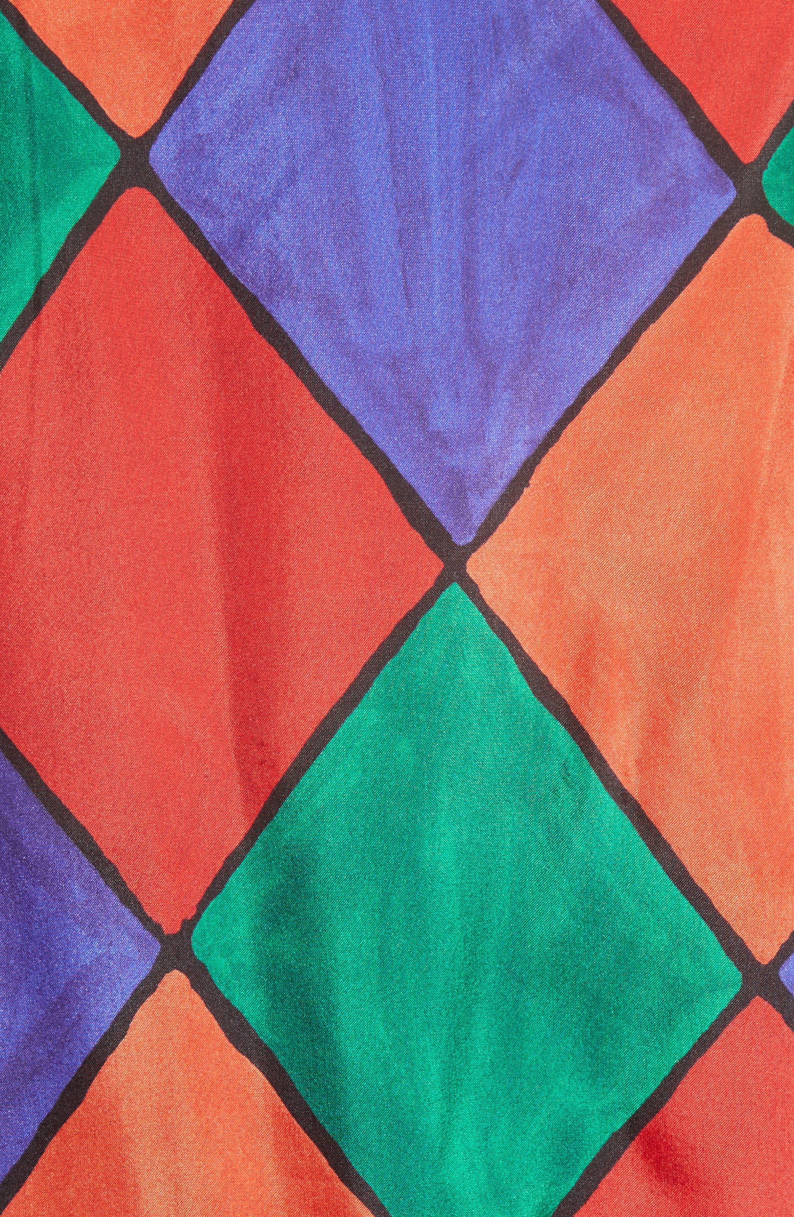 Fairy Asymmetrical Ruffle Silk Top,                             Alternate thumbnail 5, color,                             Carnival