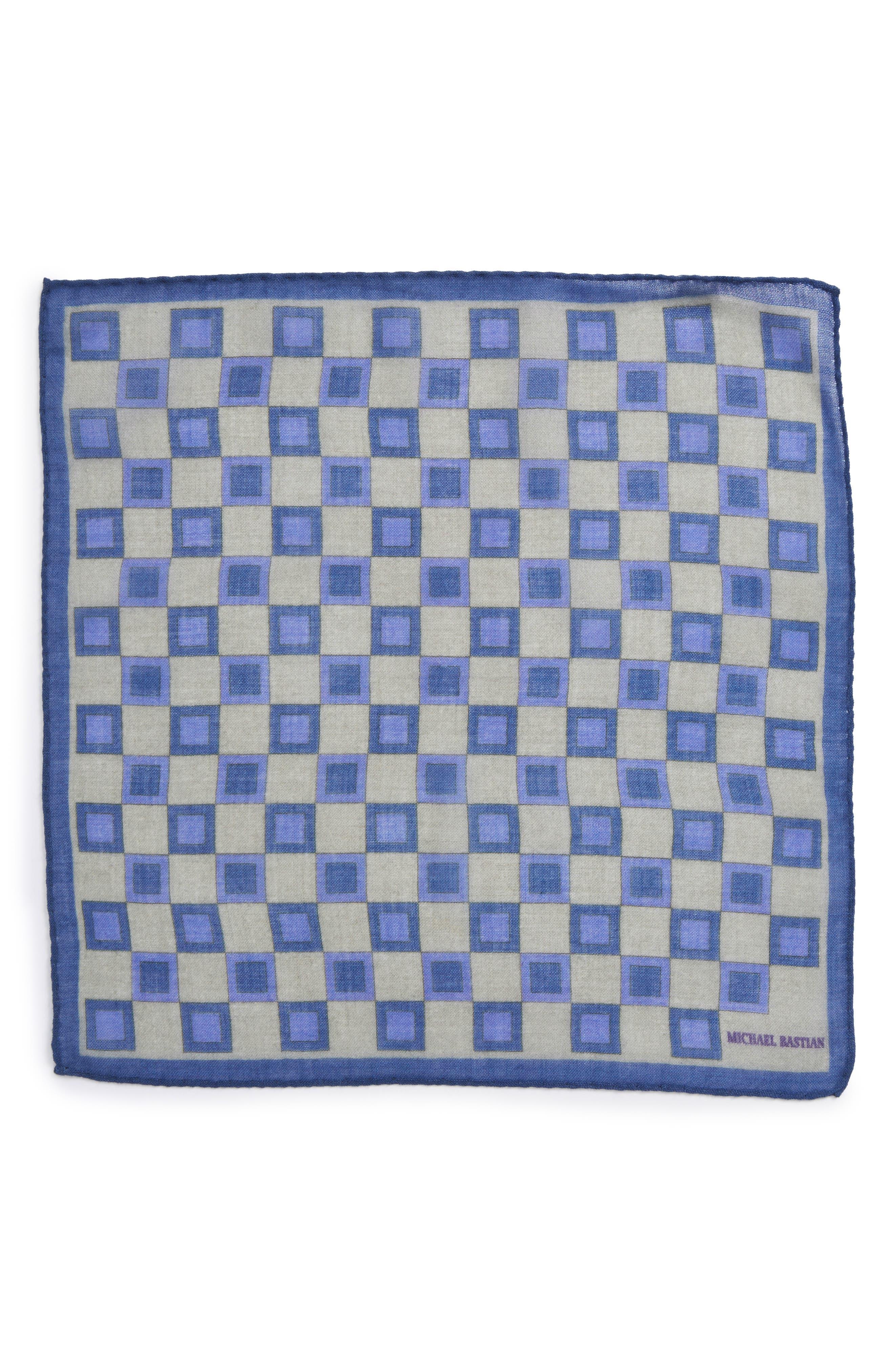Geometric Pocket Square,                             Alternate thumbnail 2, color,                             Grey