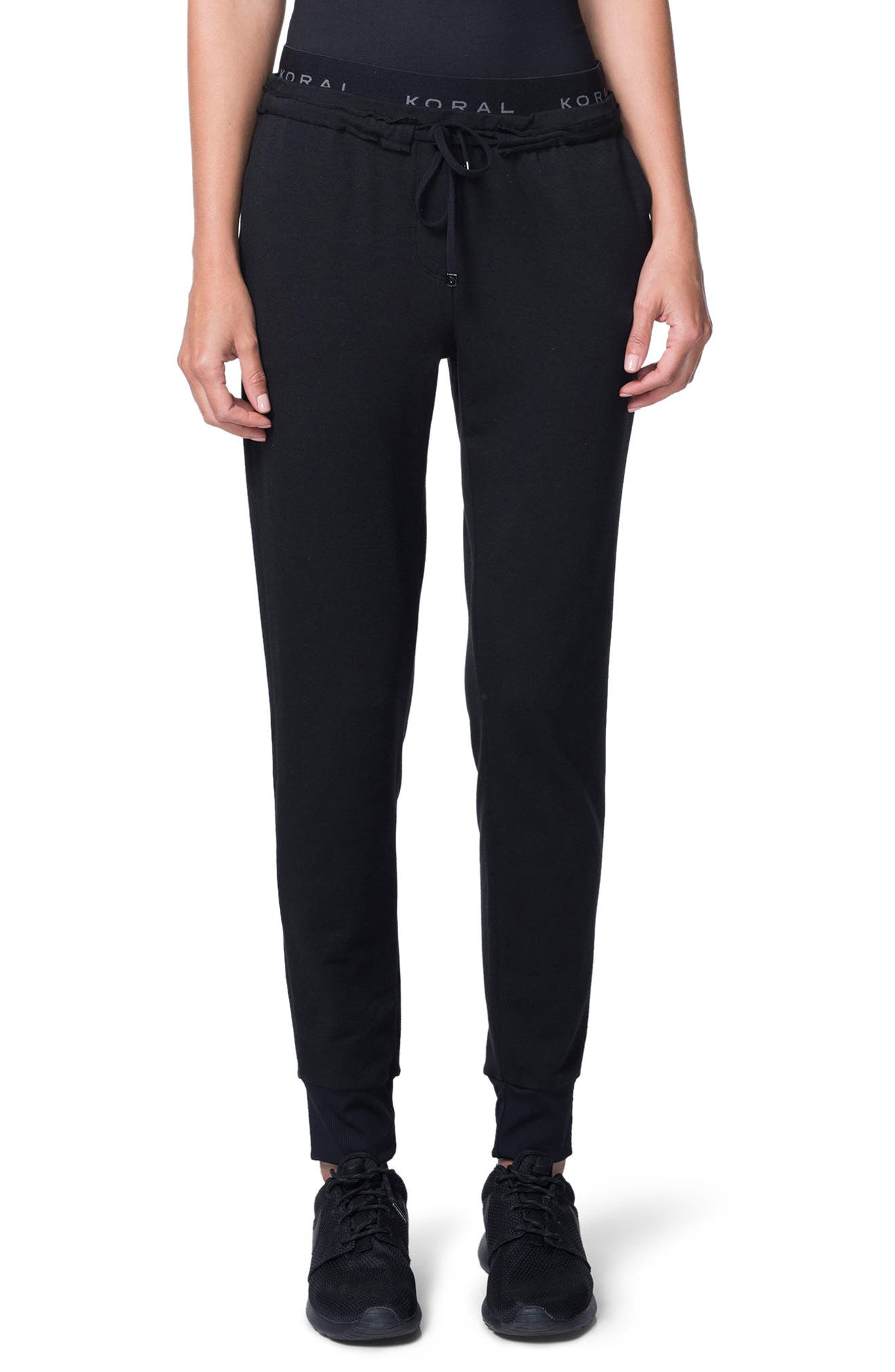 Station French Terry Pants,                         Main,                         color, Black