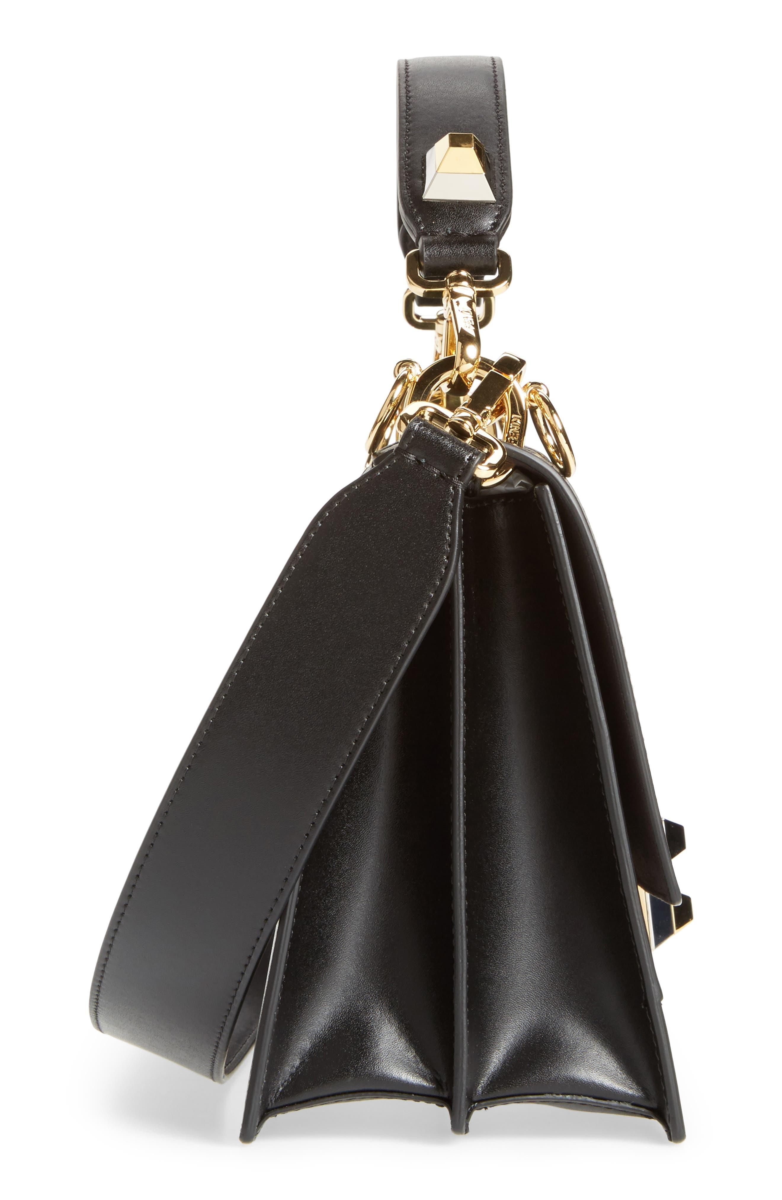 Alternate Image 4  - Fendi Kan I Genuine Calf Hair & Leather Shoulder Bag