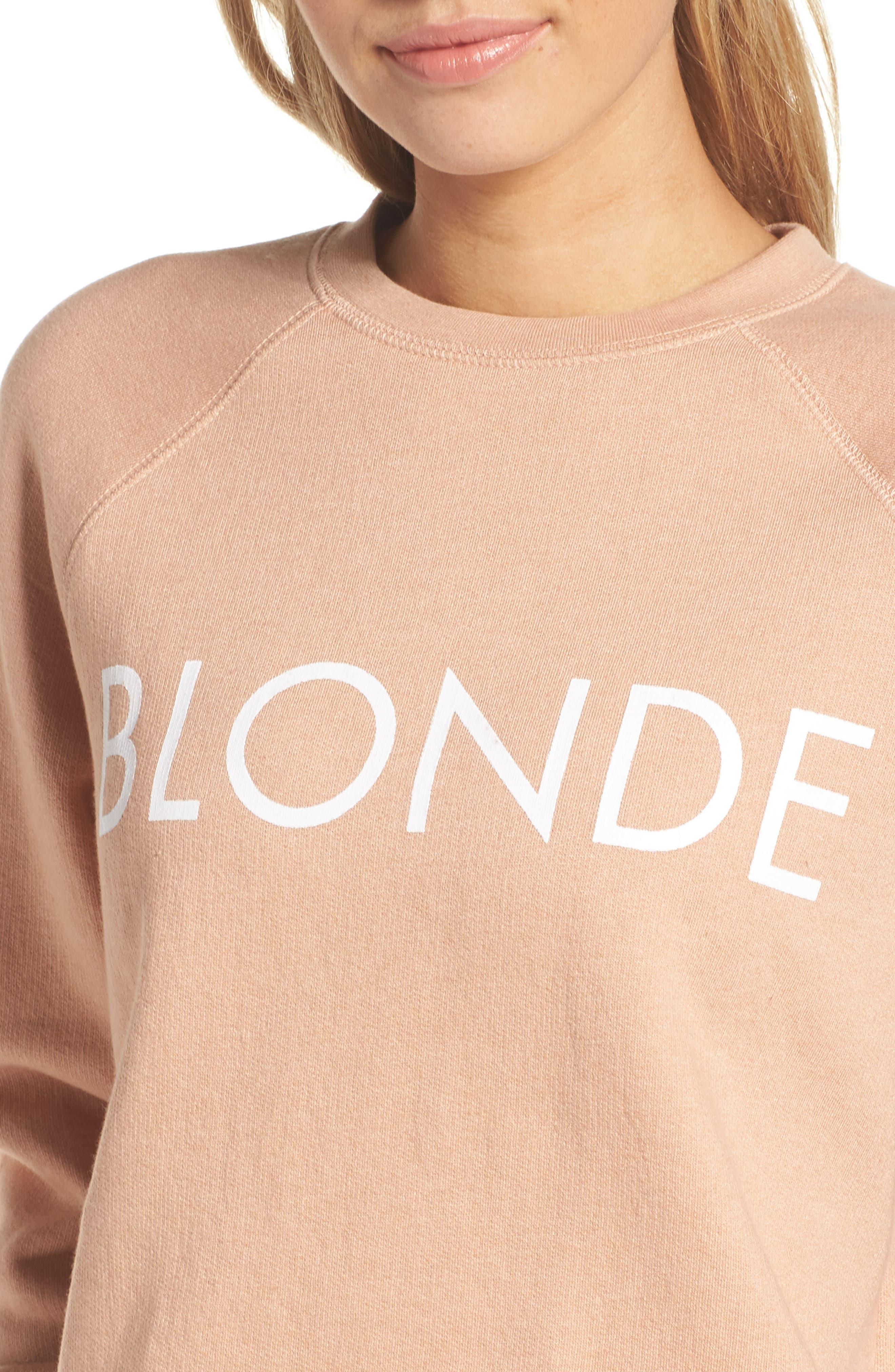 Middle Sister Blonde Sweatshirt,                             Alternate thumbnail 6, color,                             Beige