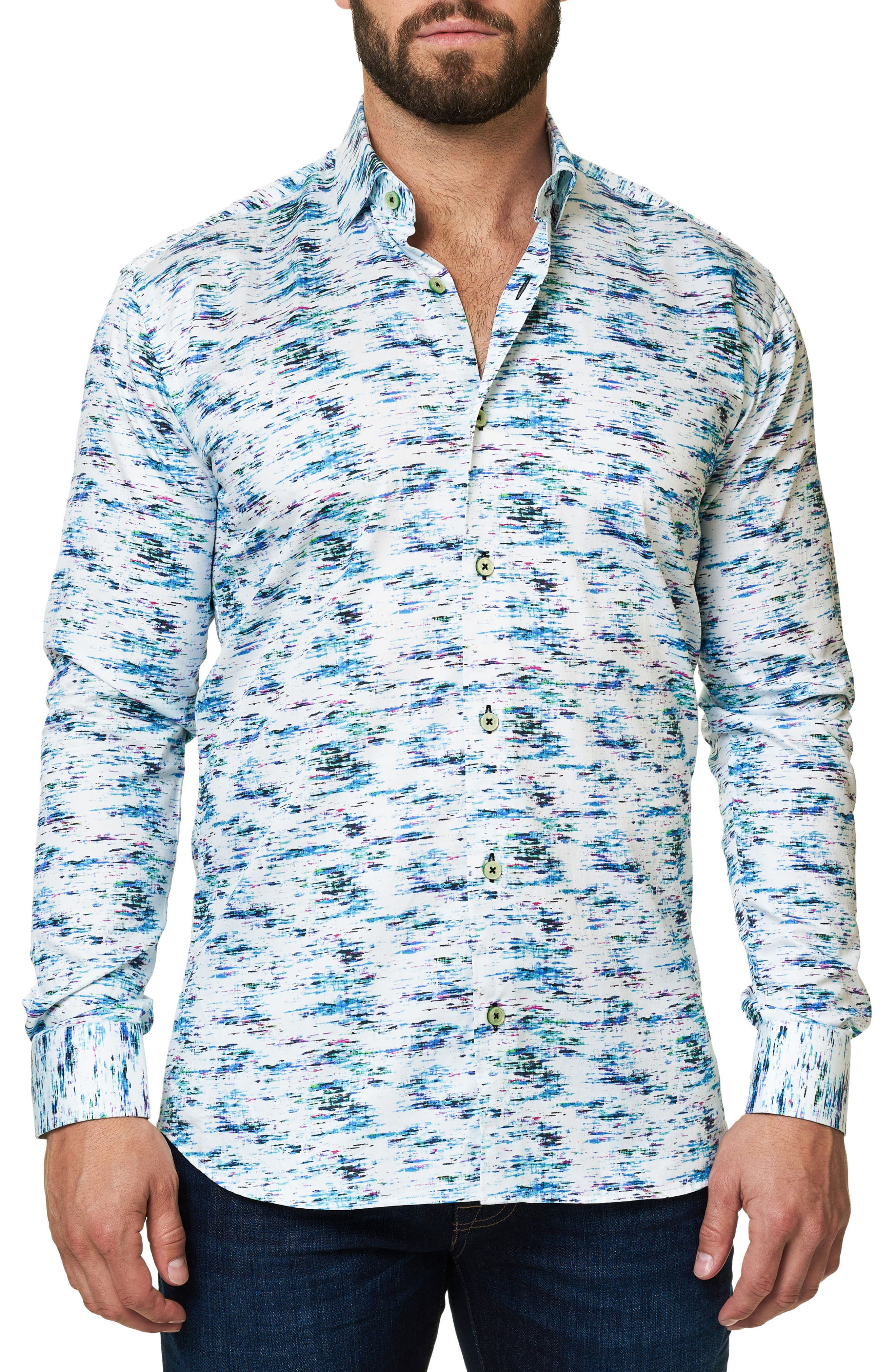Alternate Image 3  - Maceoo Luxor Slim Fit Print Sport Shirt