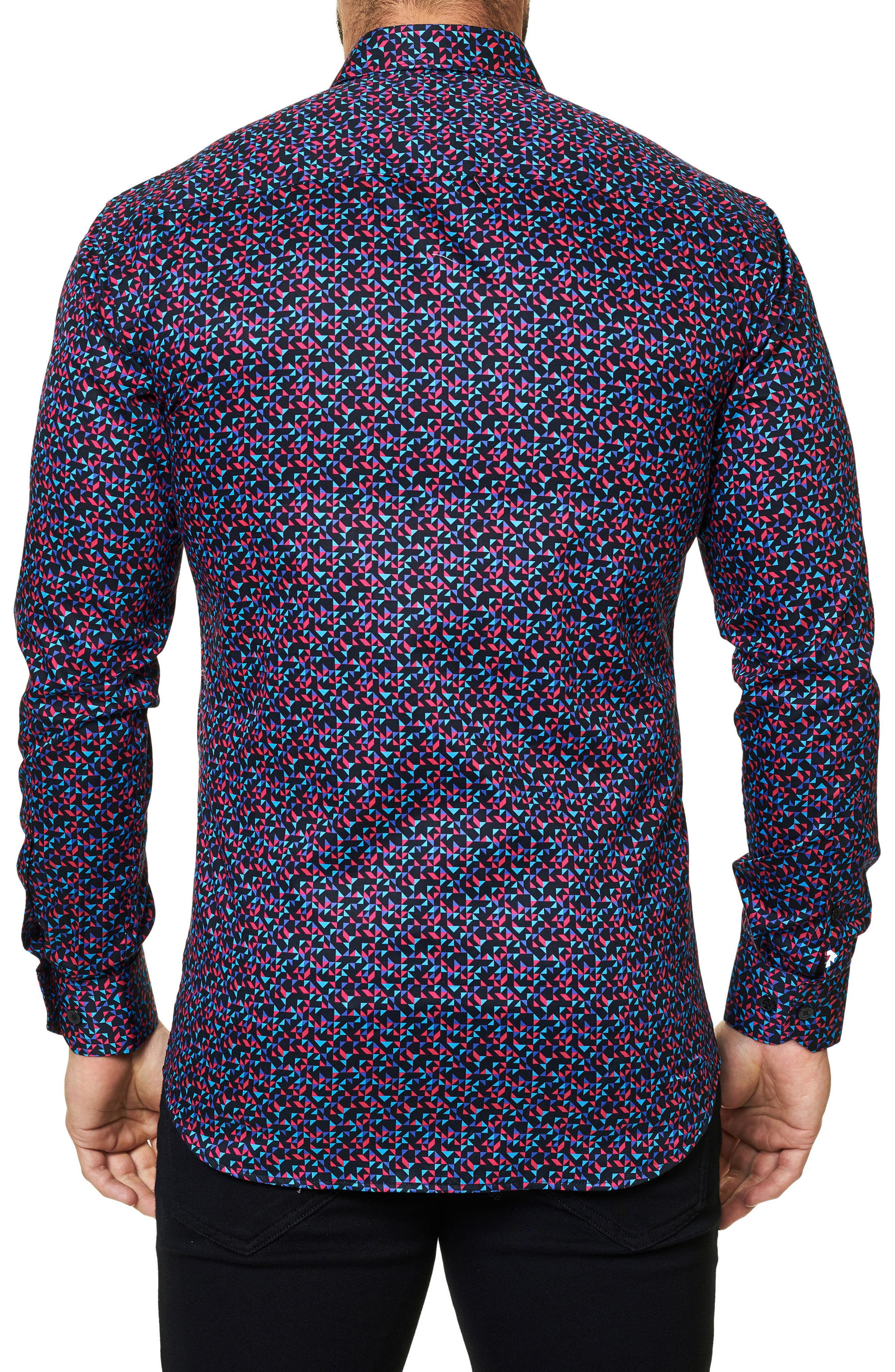 Luxor Abstract Mosaique Slim Fit Sport Shirt,                             Alternate thumbnail 2, color,                             Multi