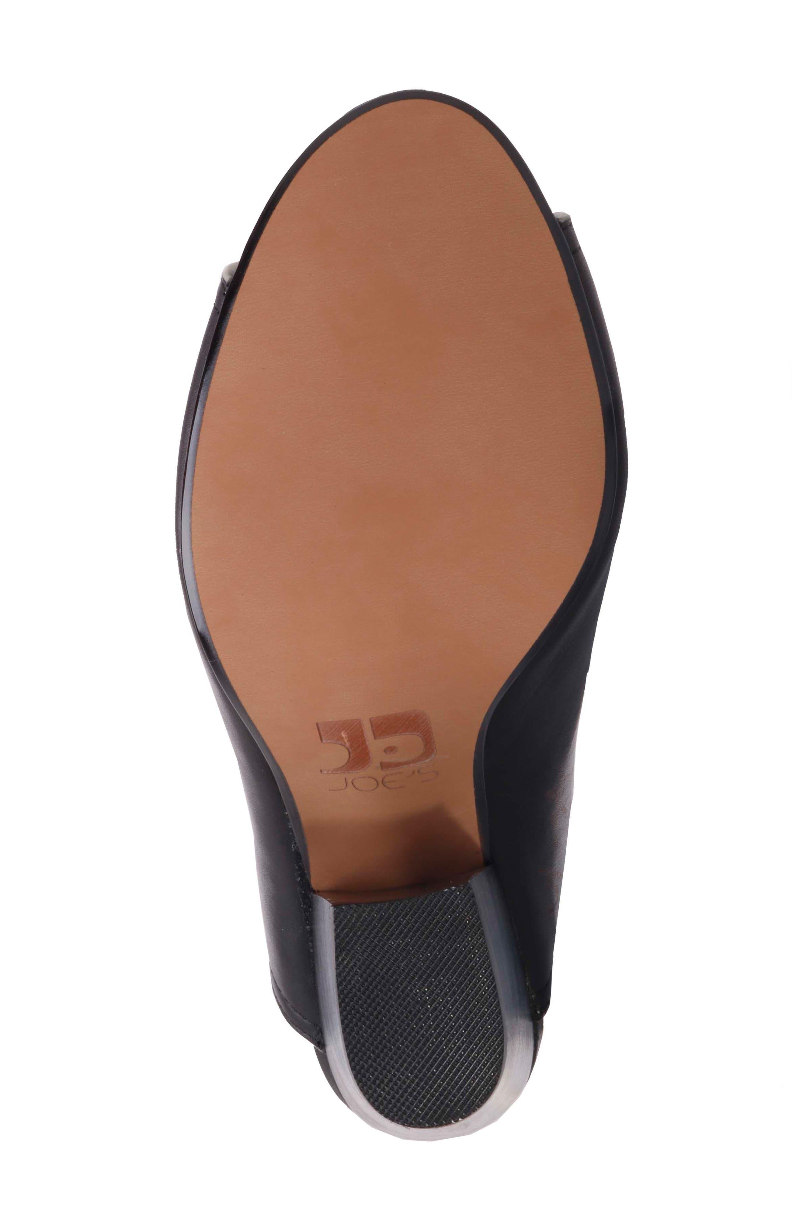 Honor Open Toe Mule,                             Alternate thumbnail 5, color,                             Black Leather