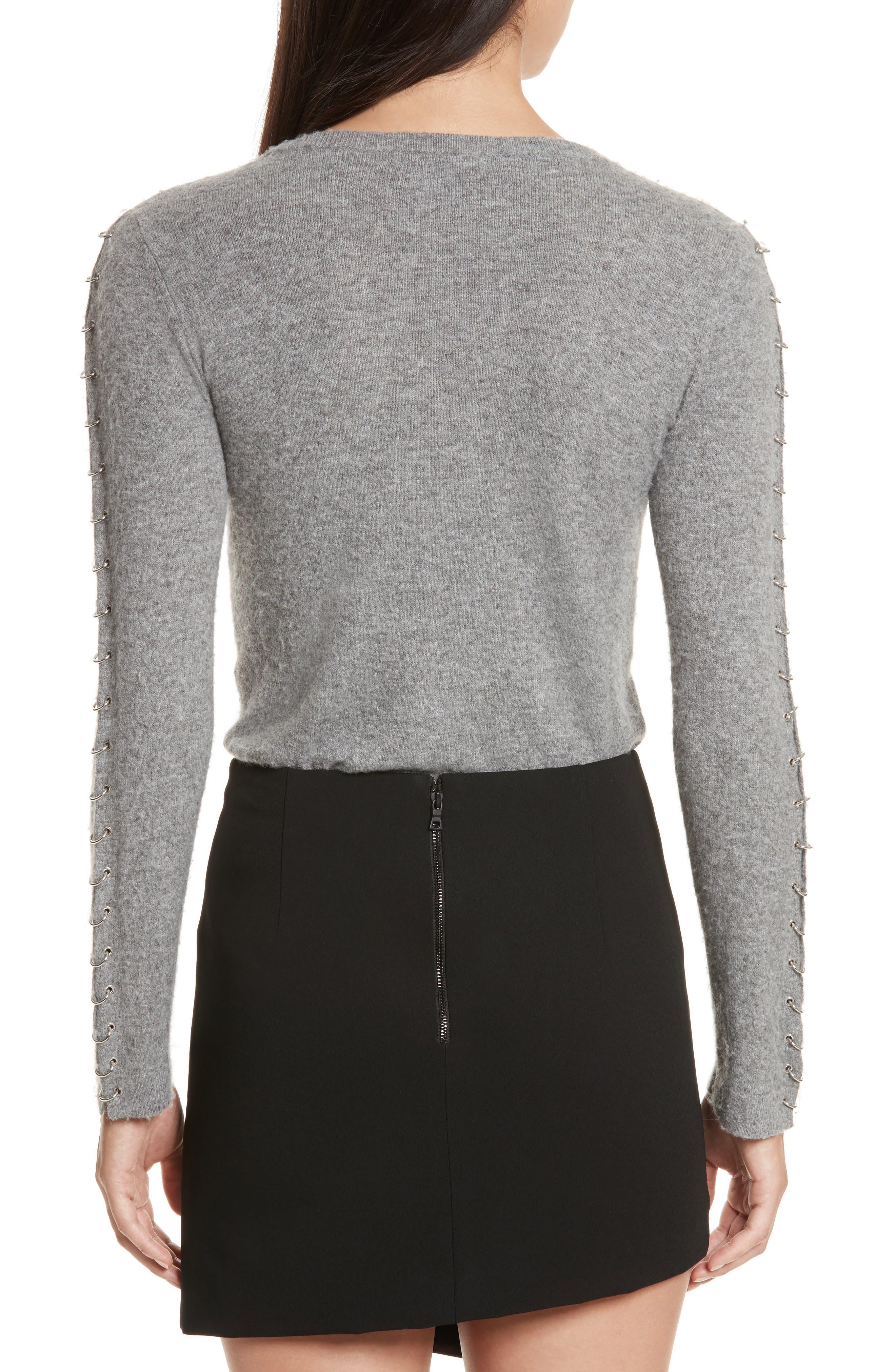 Alternate Image 2  - Alice + Olivia Sparrow Grommet Sleeve Sweater