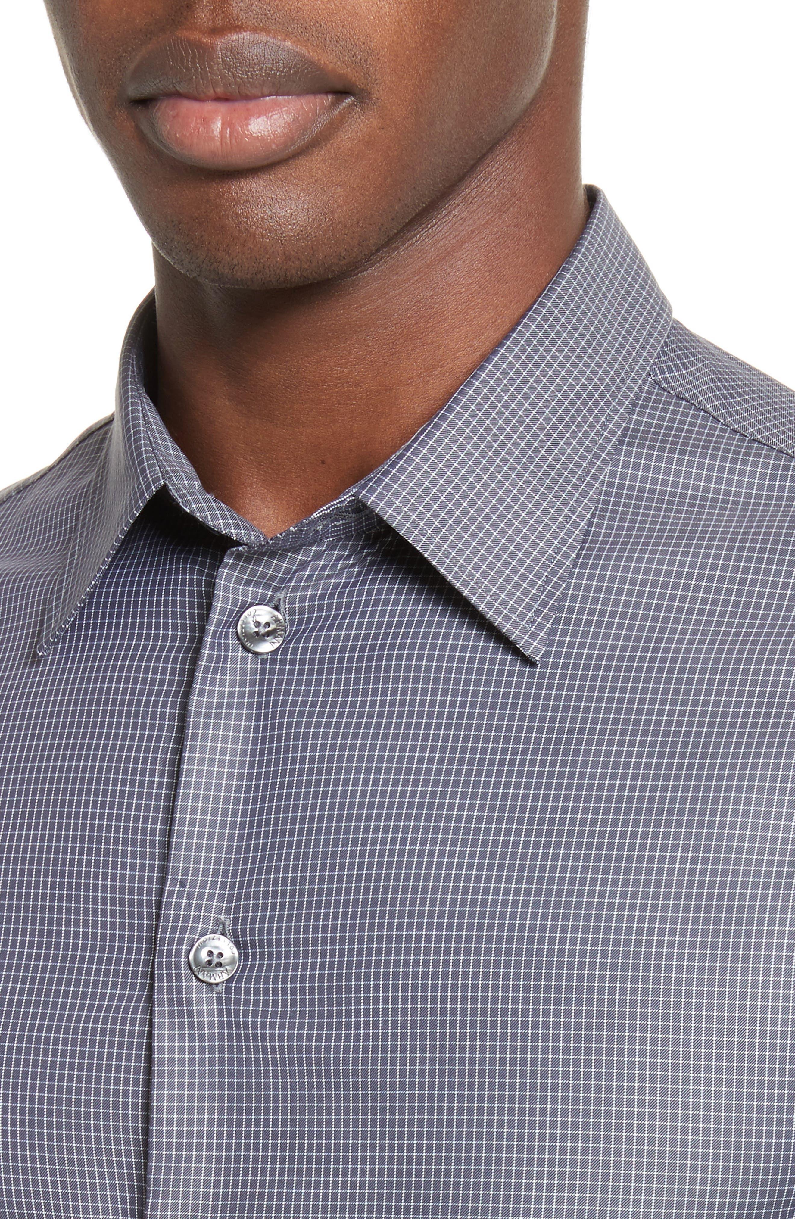 Regular Fit Mini Box Sport Shirt,                             Alternate thumbnail 2, color,                             Red Rib