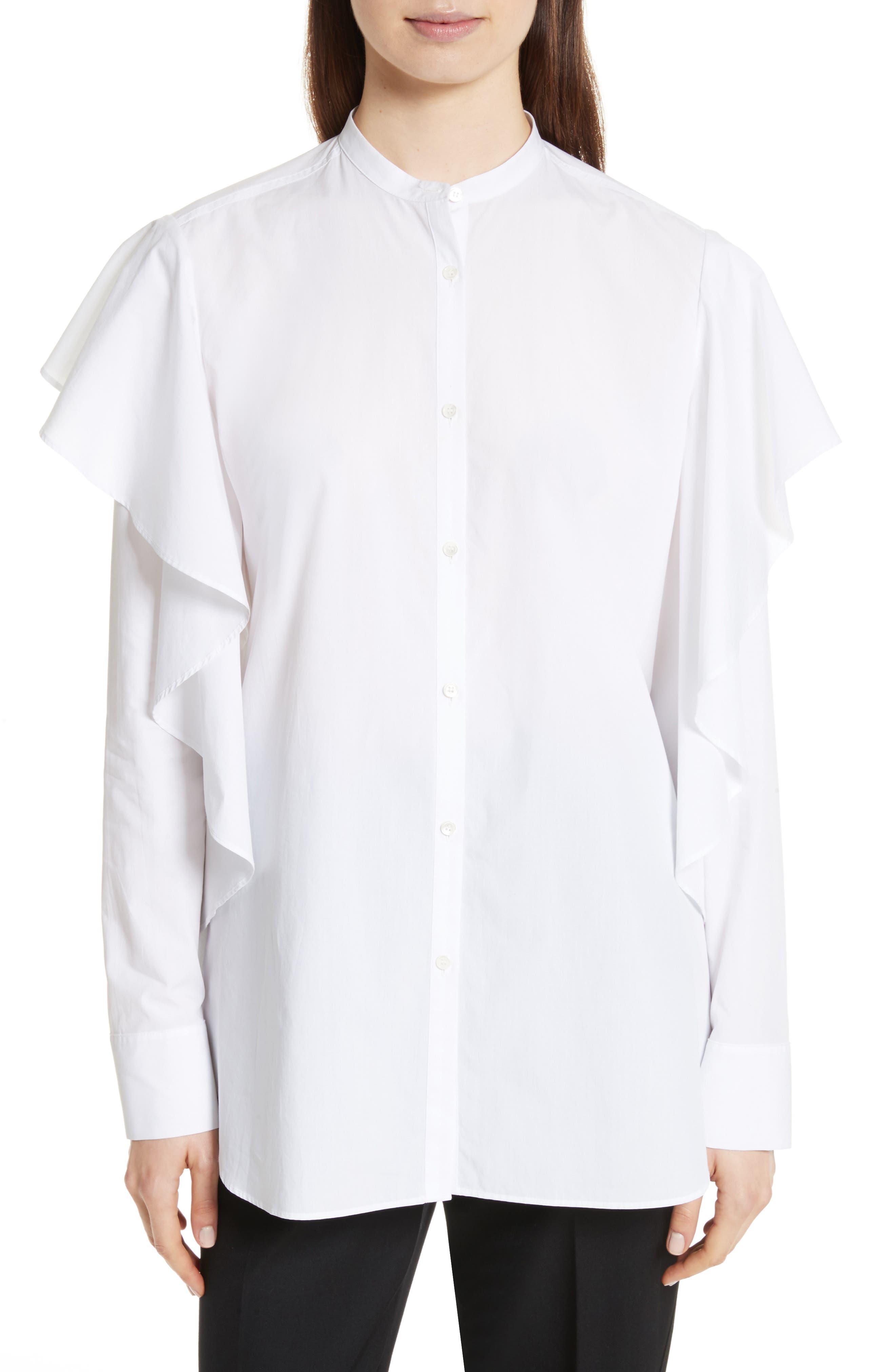 Alternate Image 1 Selected - Robert Rodriguez Ruffle Cotton Shirt