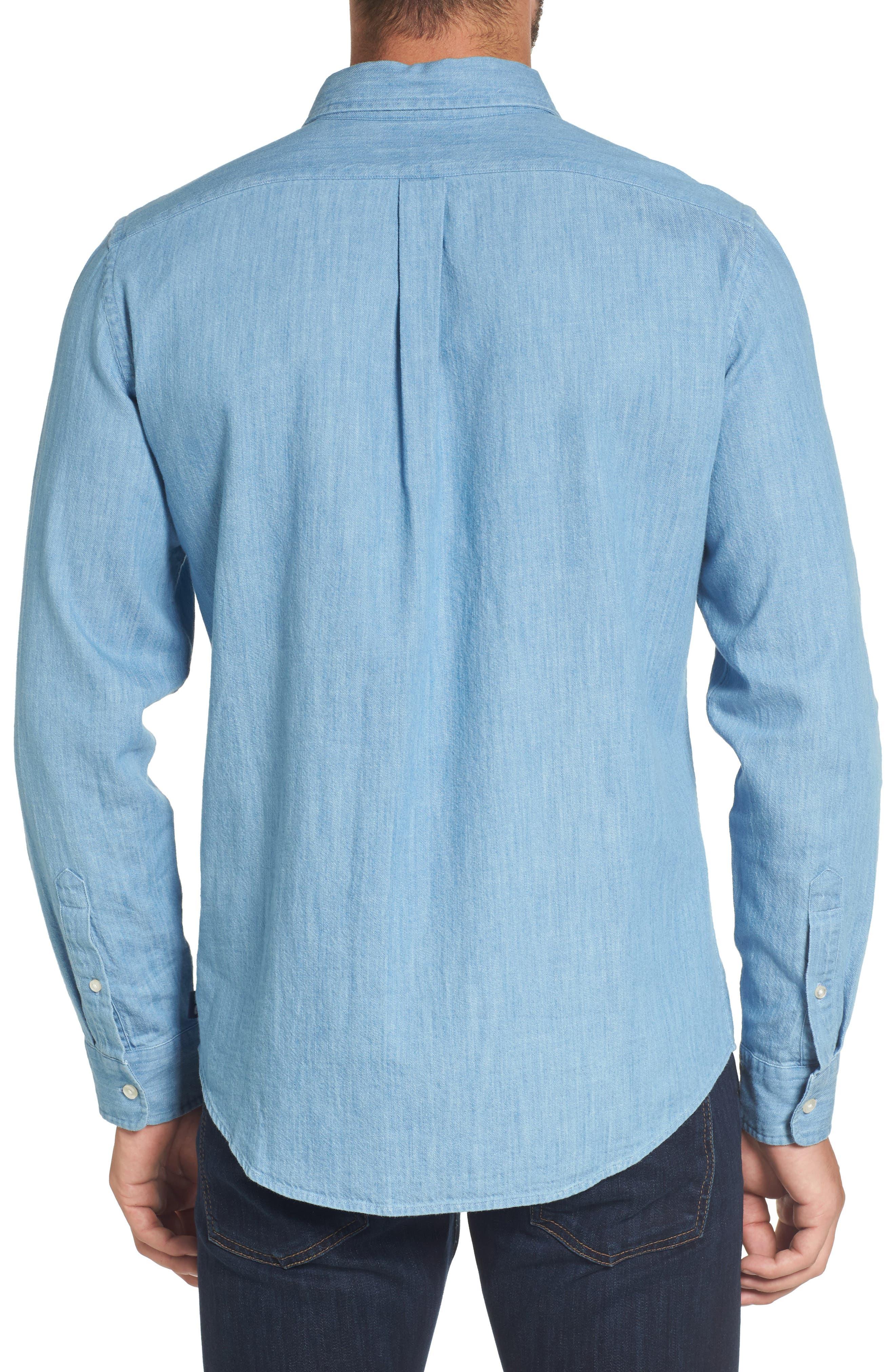 Alternate Image 2  - vineyard vines Lightkeeper Slim Fit Chambray Sport Shirt