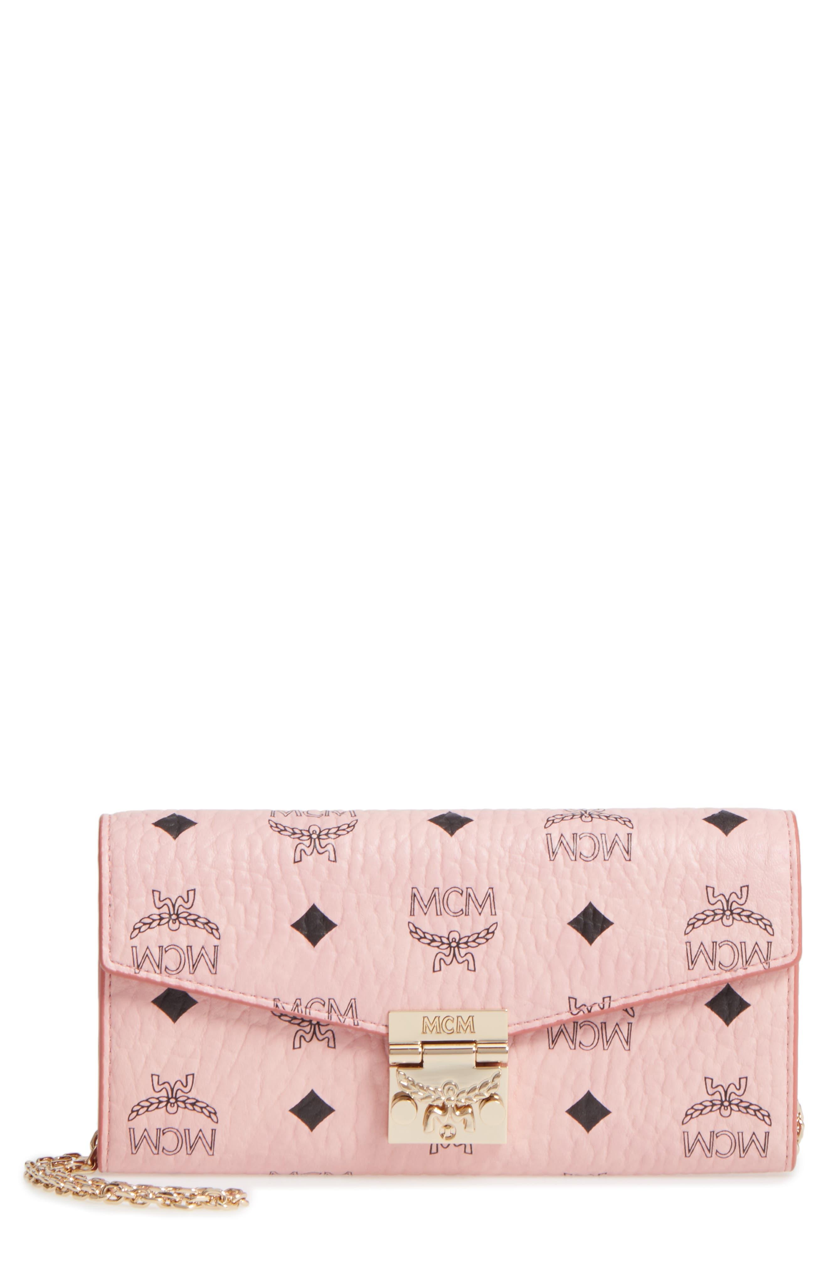 MCM Patricia Visetos Canvas Wallet