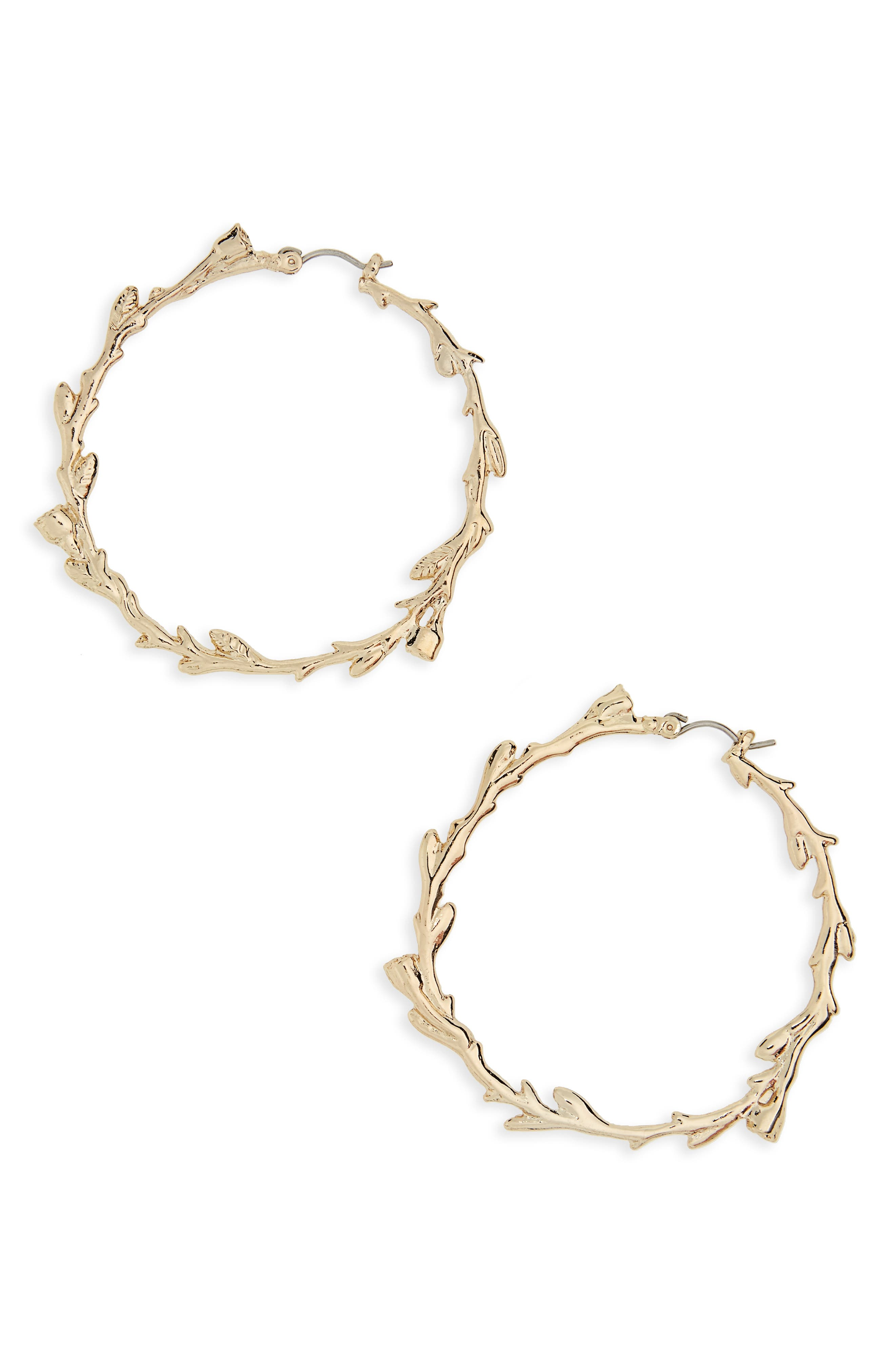 TOPSHOP Vine Hoop Earrings
