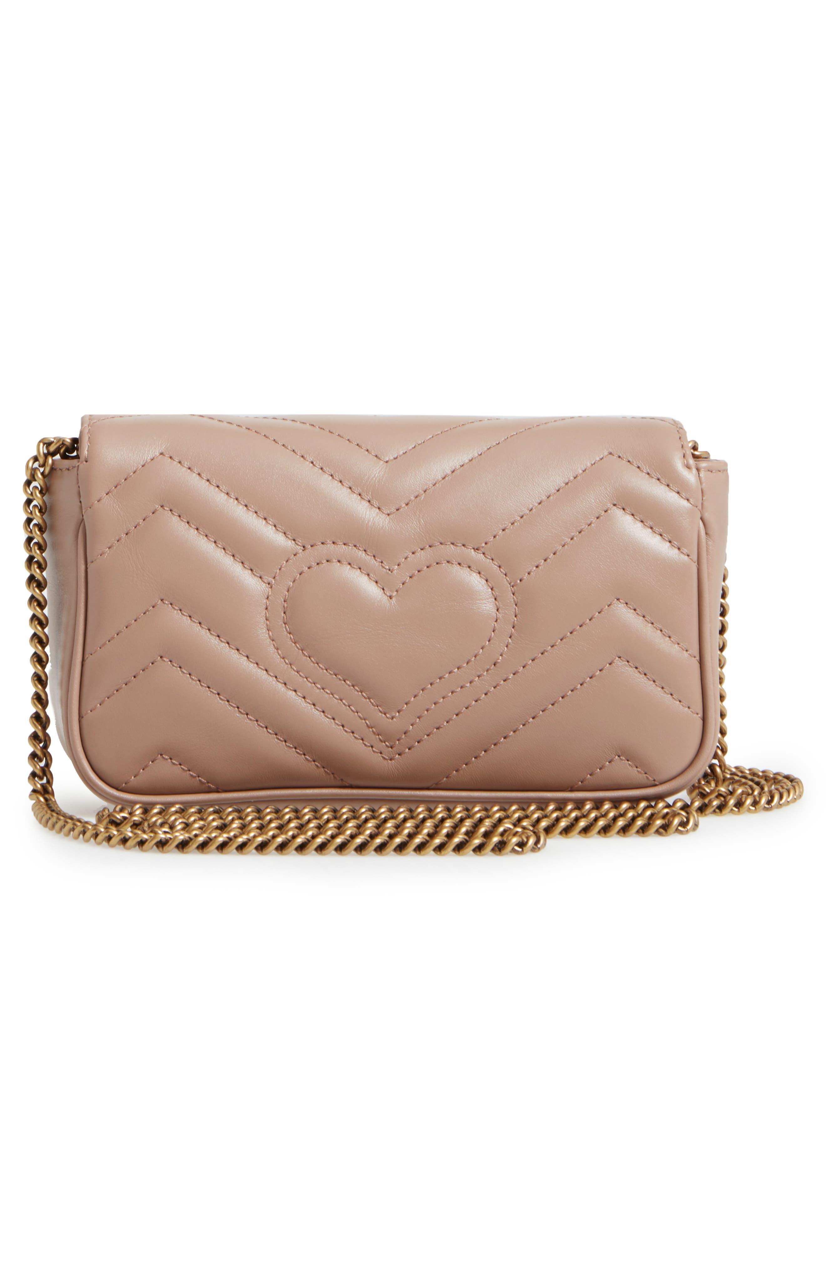 Alternate Image 2  - Gucci Supermini GG Marmont 2.0 Matelassé Leather Shoulder Bag