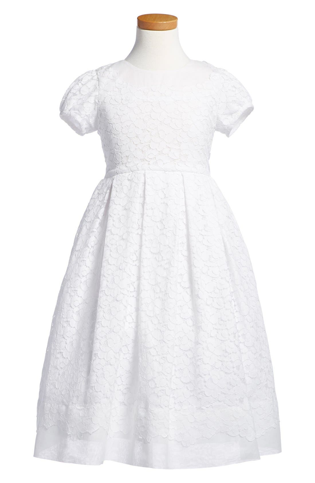 'Gala' Organdy Dress,                         Main,                         color, White