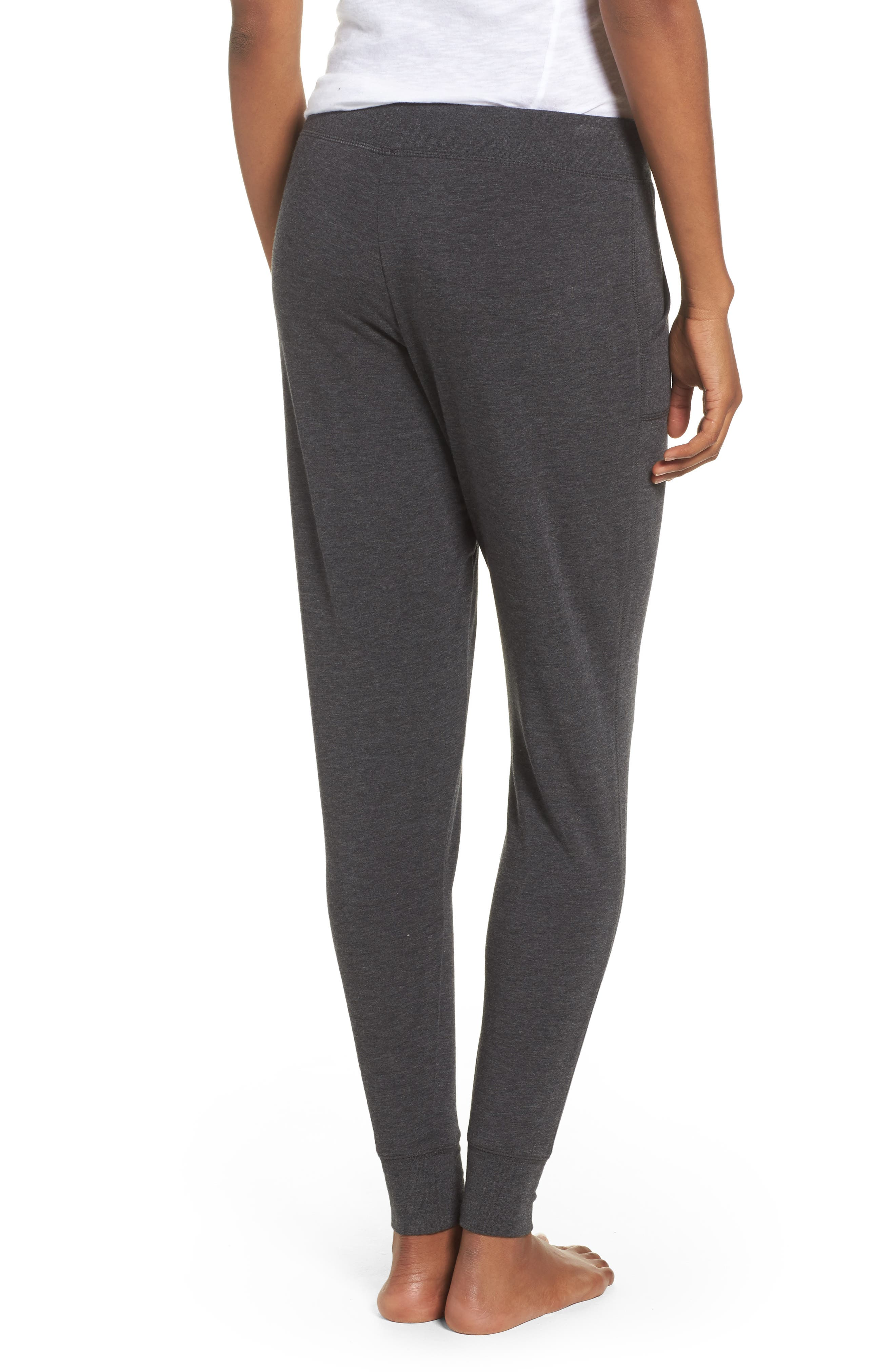 All About It Lounge Pants,                             Alternate thumbnail 3, color,                             Grey Wolf Heather