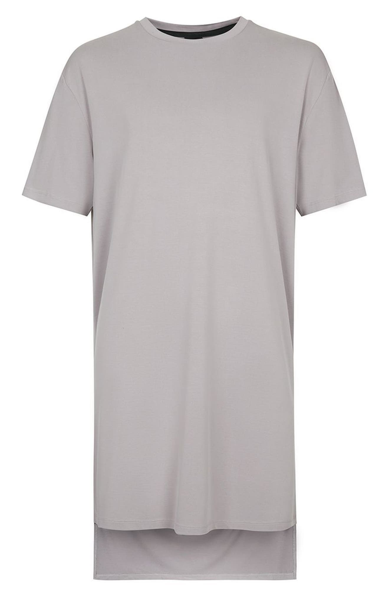 AAA Collection Longline T-Shirt,                             Alternate thumbnail 4, color,                             Grey