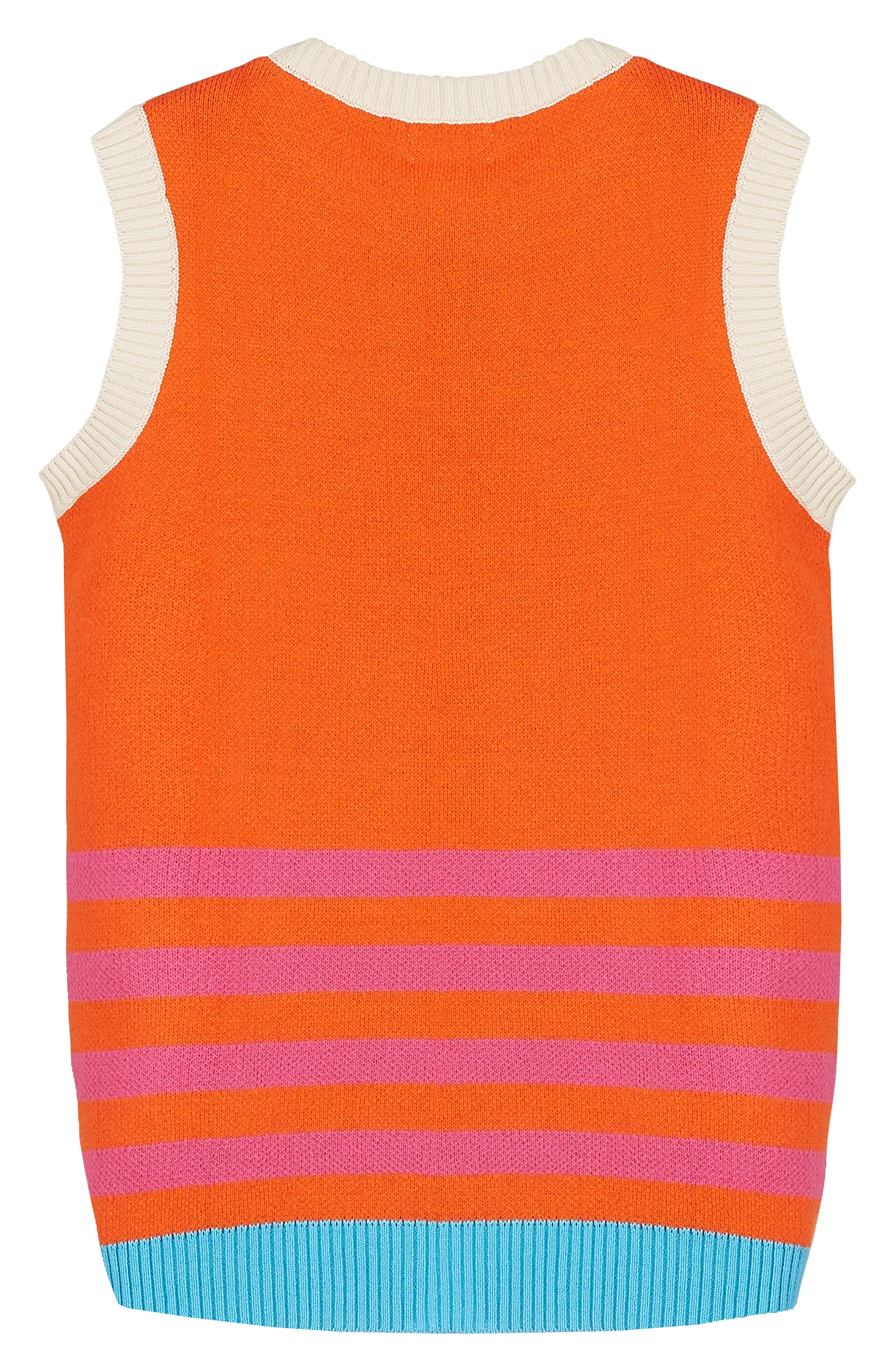 Alternate Image 2  - Margherita Retro Colorblock Sweater Knit Dress (Toddler Girls & Little Girls)