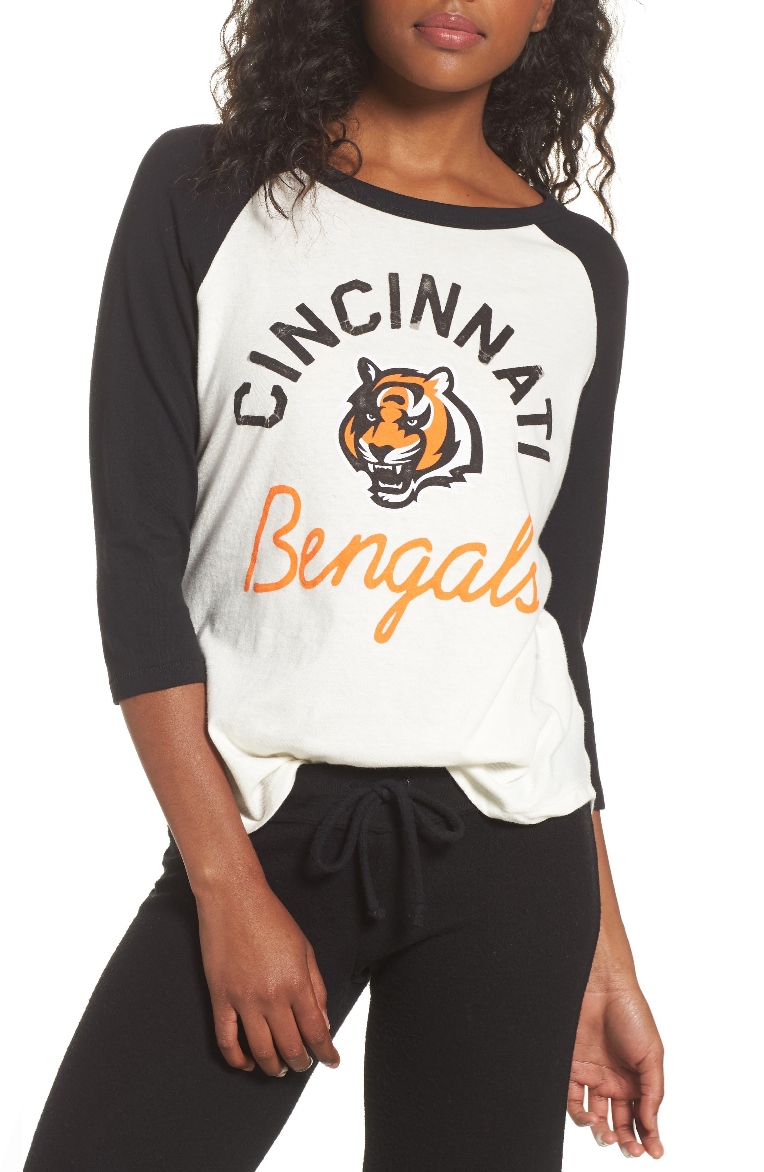 Alternate Image 1 Selected - Junk Food NFL Cincinnati Bengals Raglan Tee