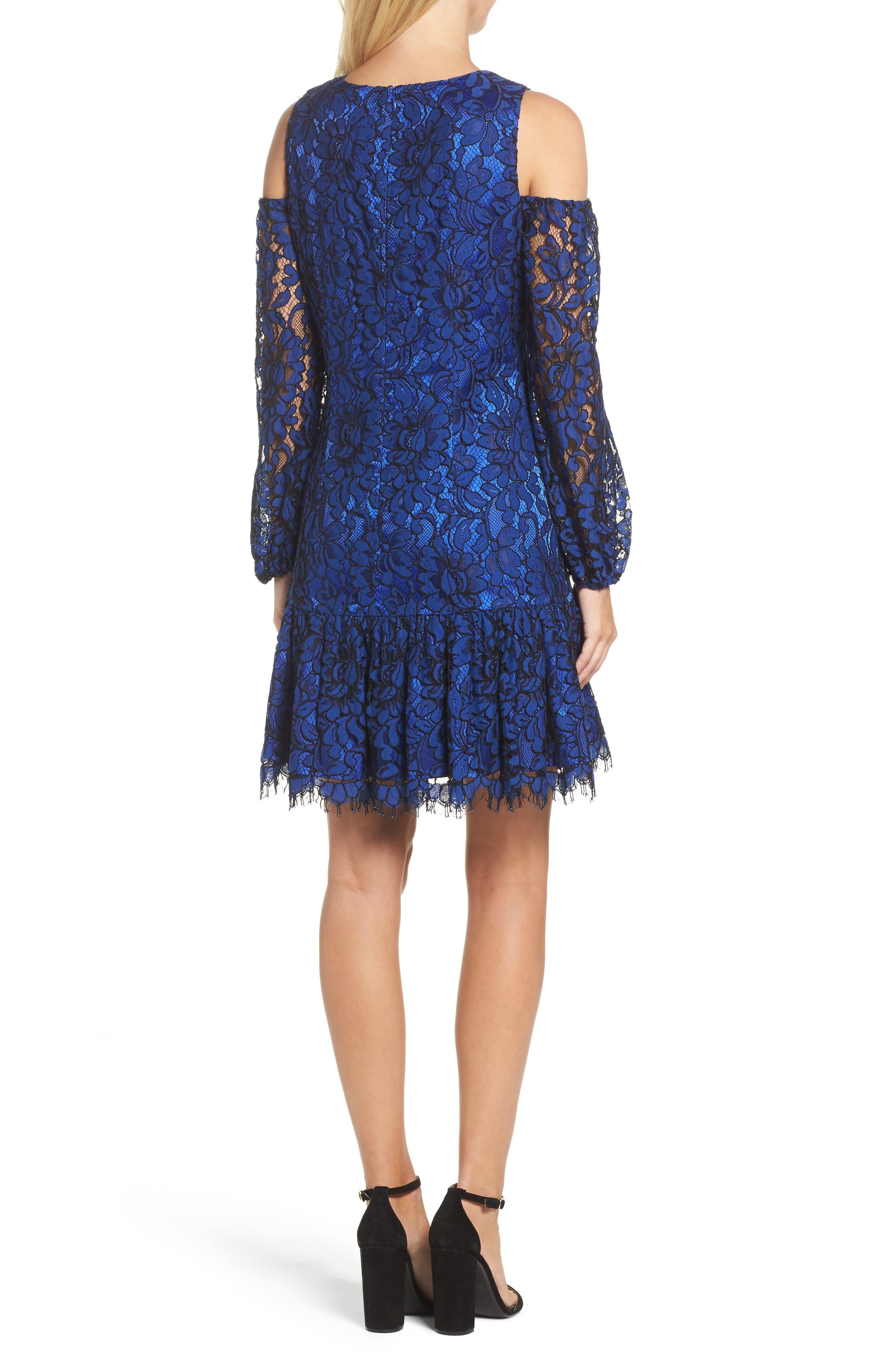 Alternate Image 2  - Eliza J Lace Cold Shoulder Dress
