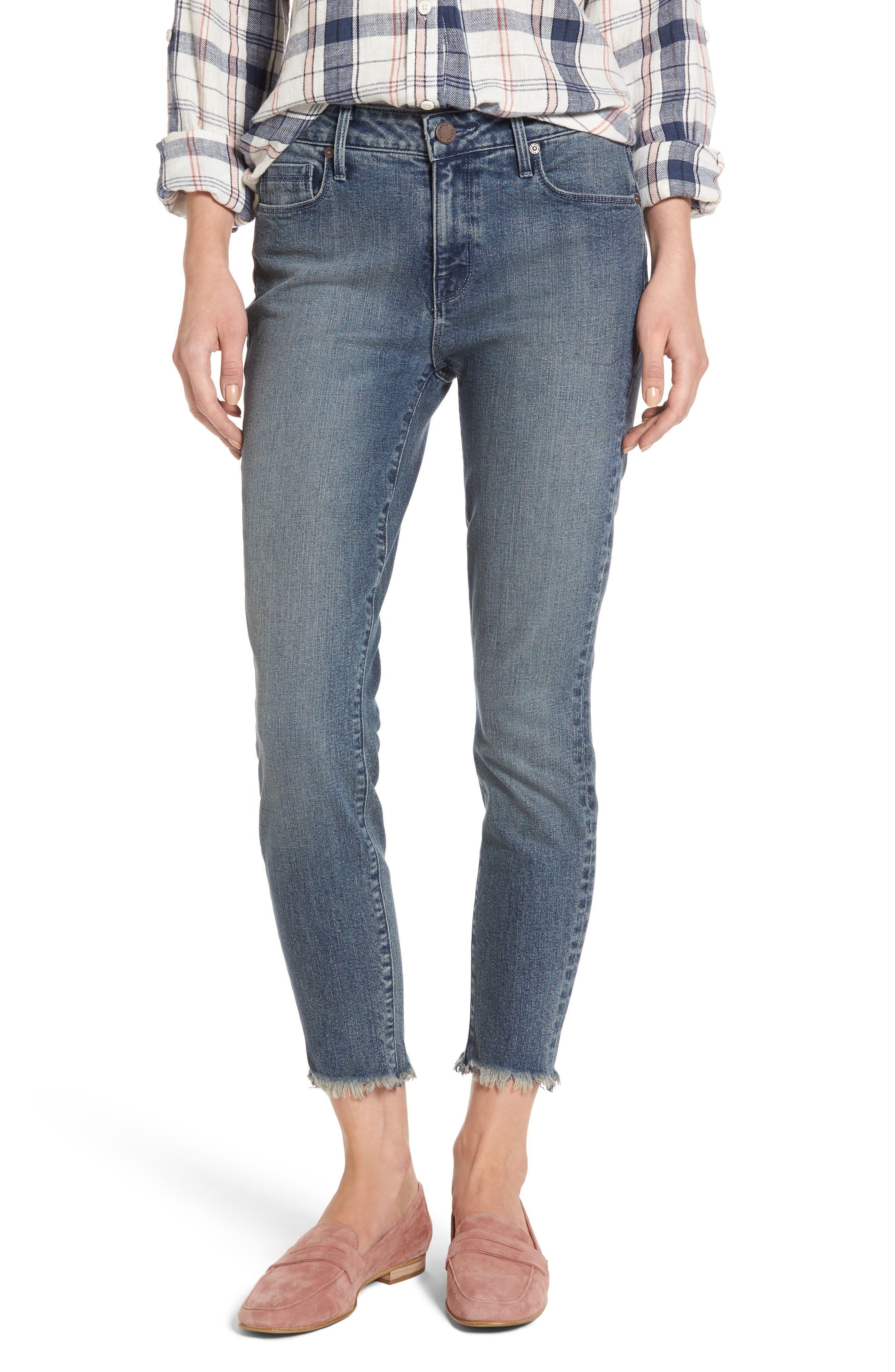 Alternate Image 1 Selected - PARKER SMITH Ava Crop Skinny Jeans (Madeline)