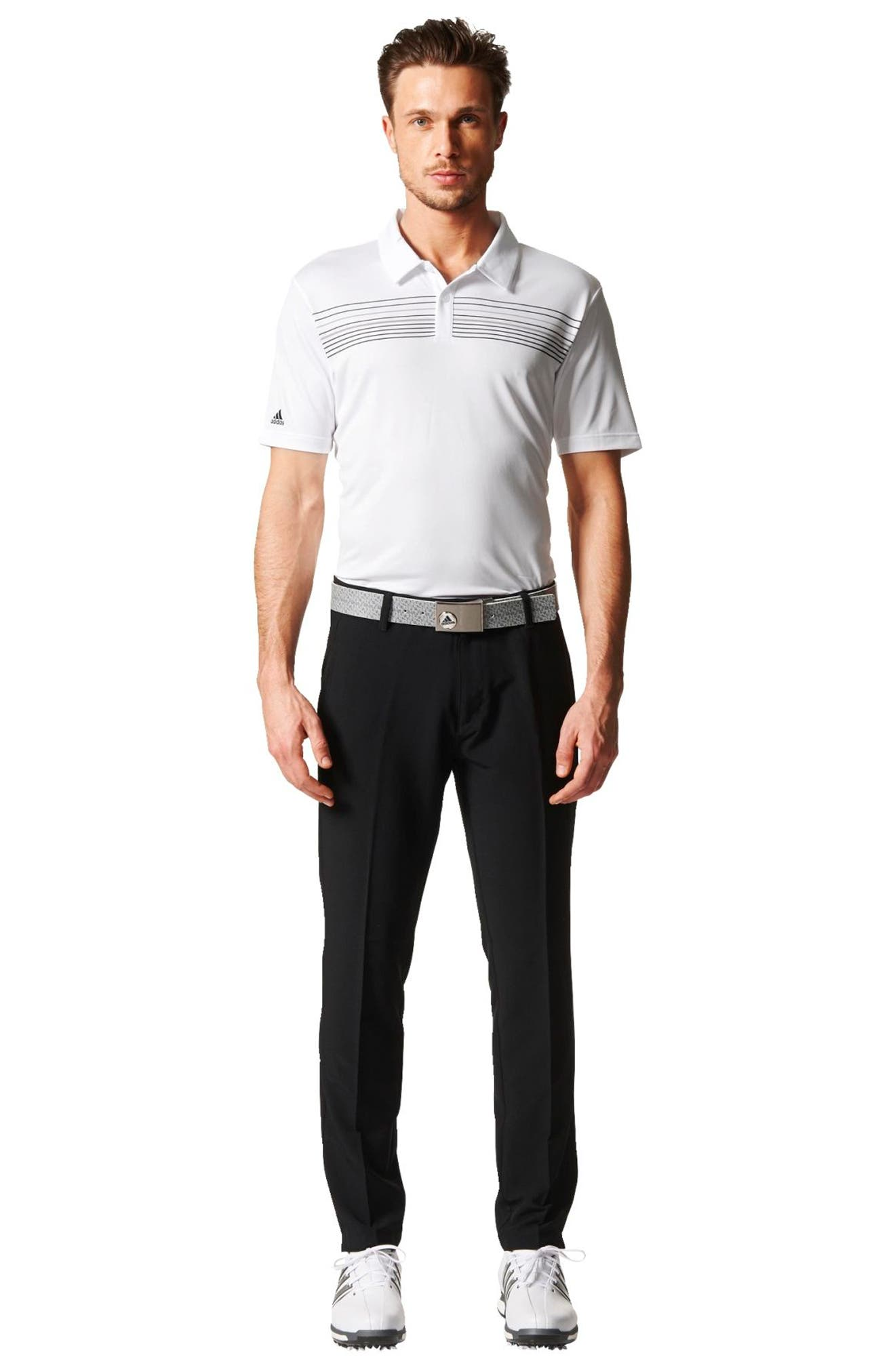 Alternate Image 6  - adidas Chest Stripe Golf Polo
