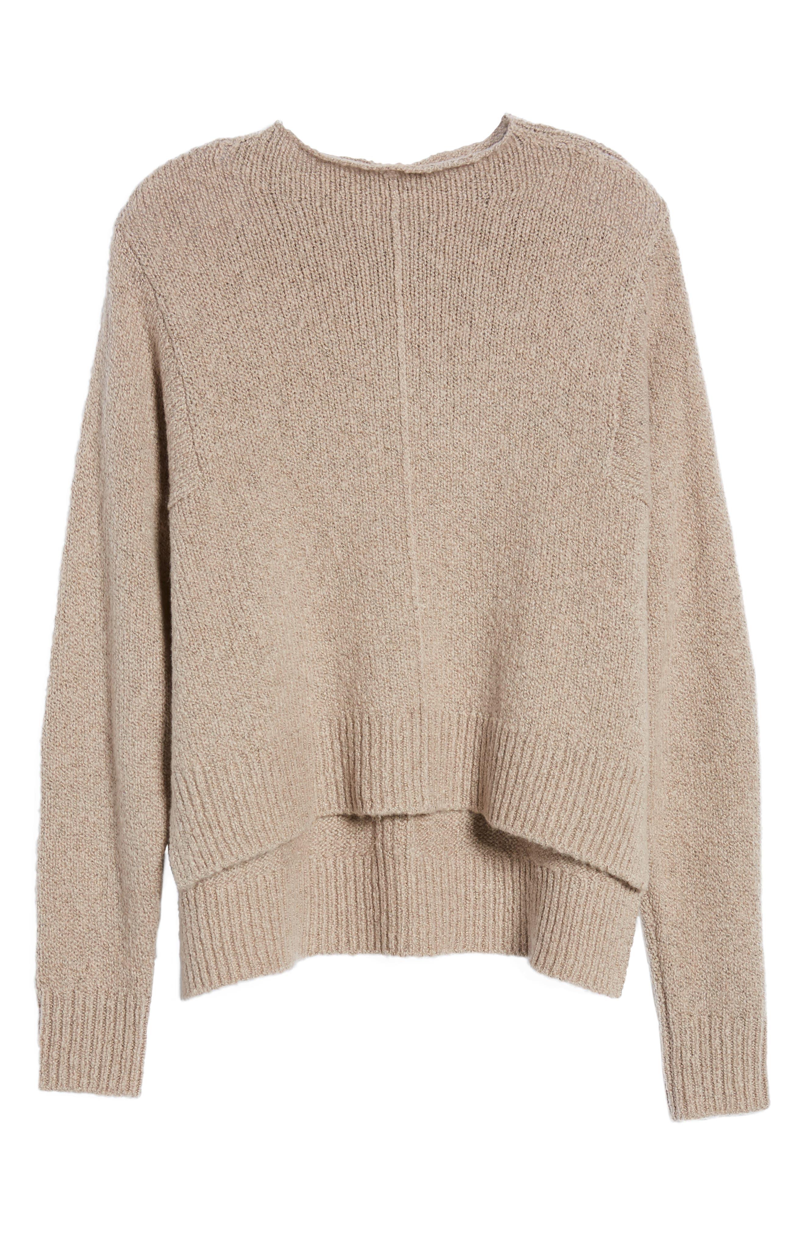 Alternate Image 6  - Leith Fuzzy Side Slit Sweater