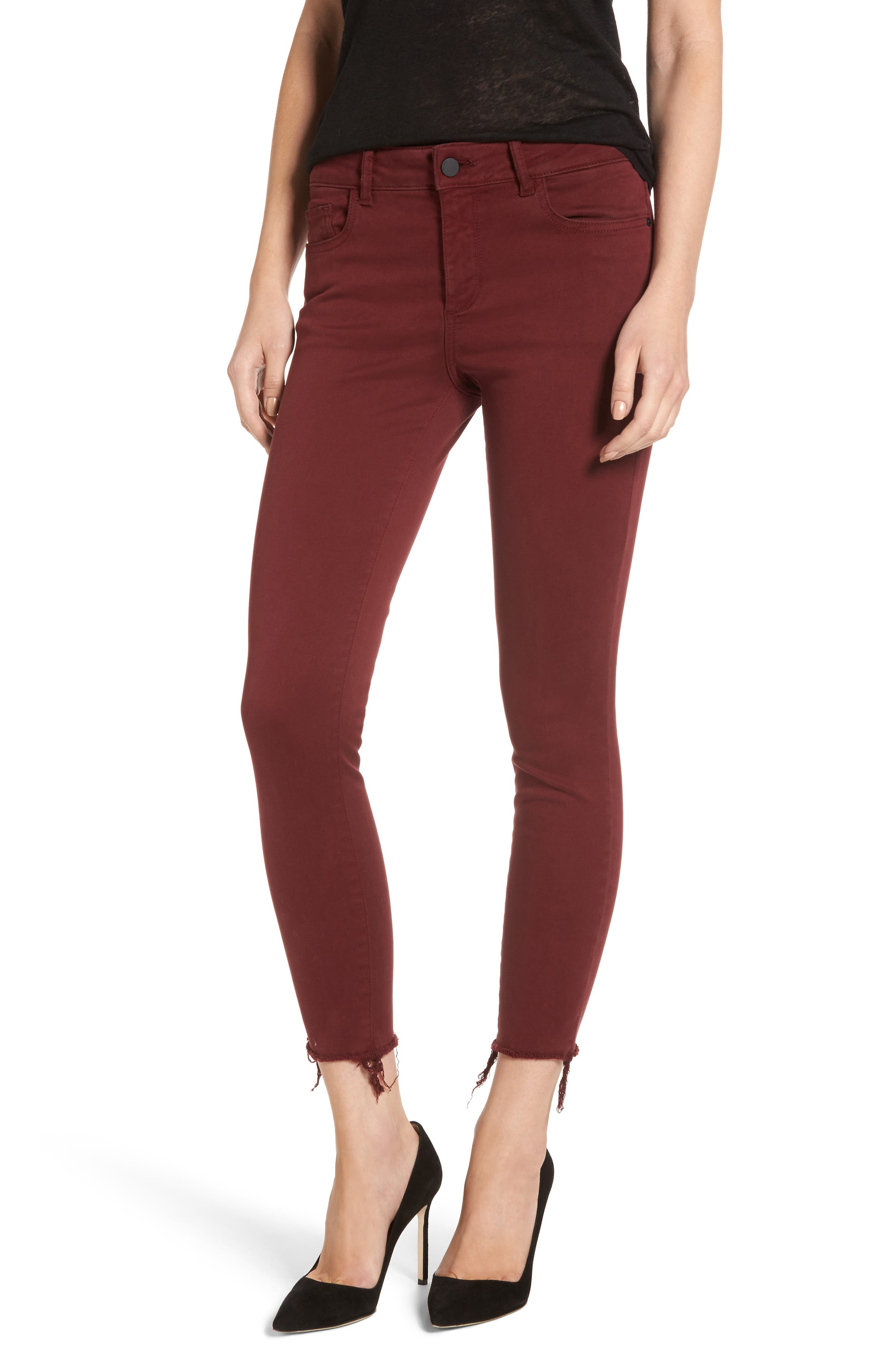 Margaux Instasculpt Ankle Skinny Jeans,                             Main thumbnail 1, color,                             Tawny Port