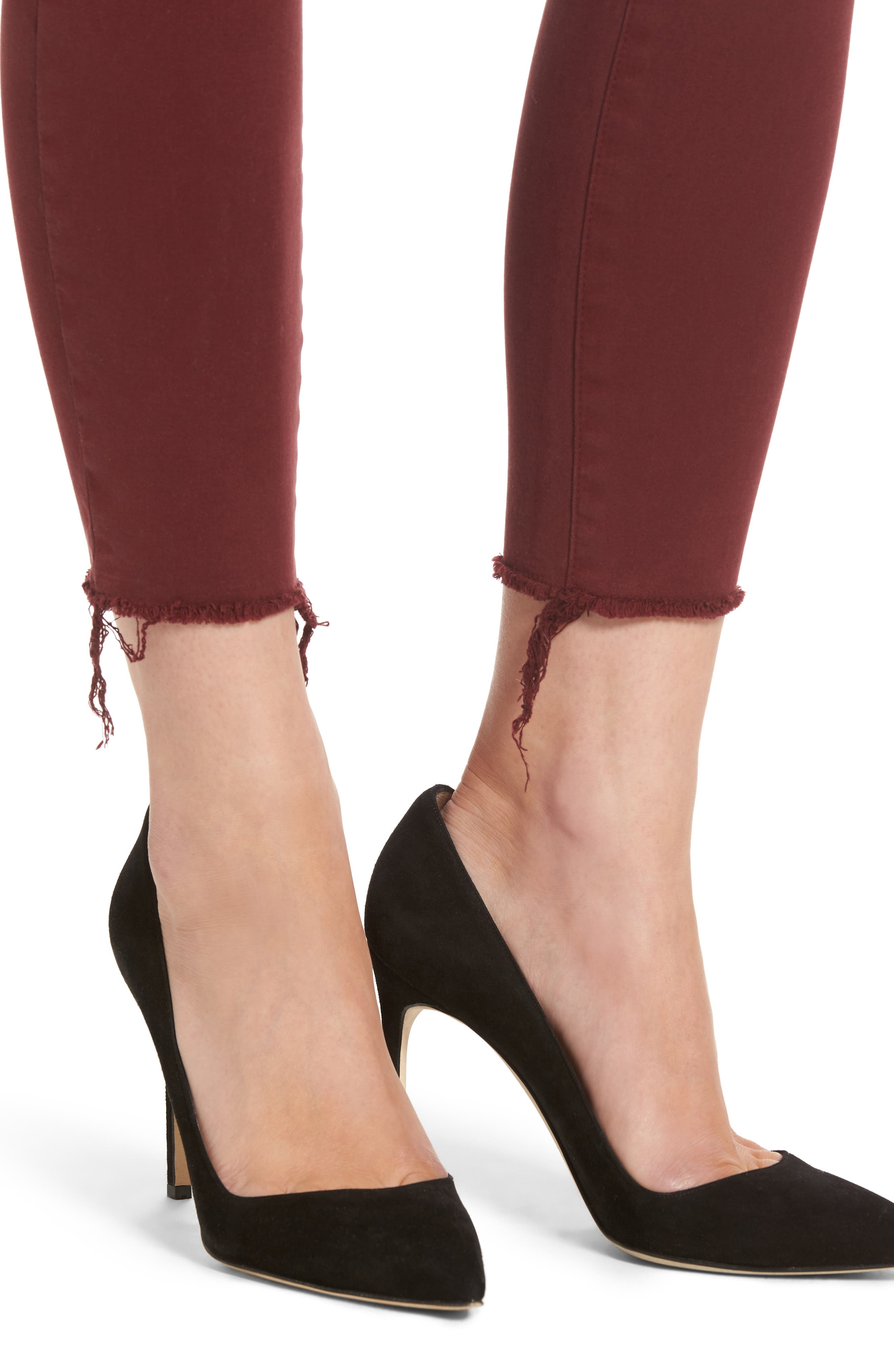 Margaux Instasculpt Ankle Skinny Jeans,                             Alternate thumbnail 4, color,                             Tawny Port