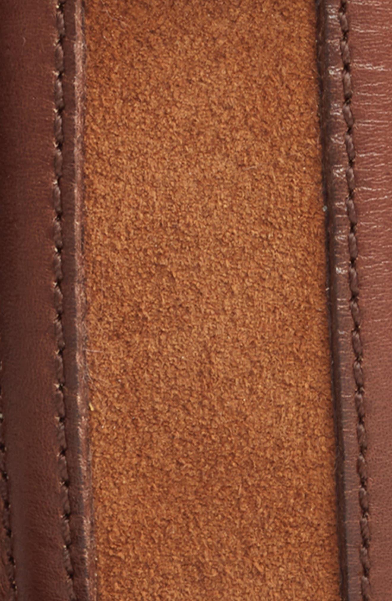 Fuju Suede & Leather Belt,                             Alternate thumbnail 2, color,                             Cognac