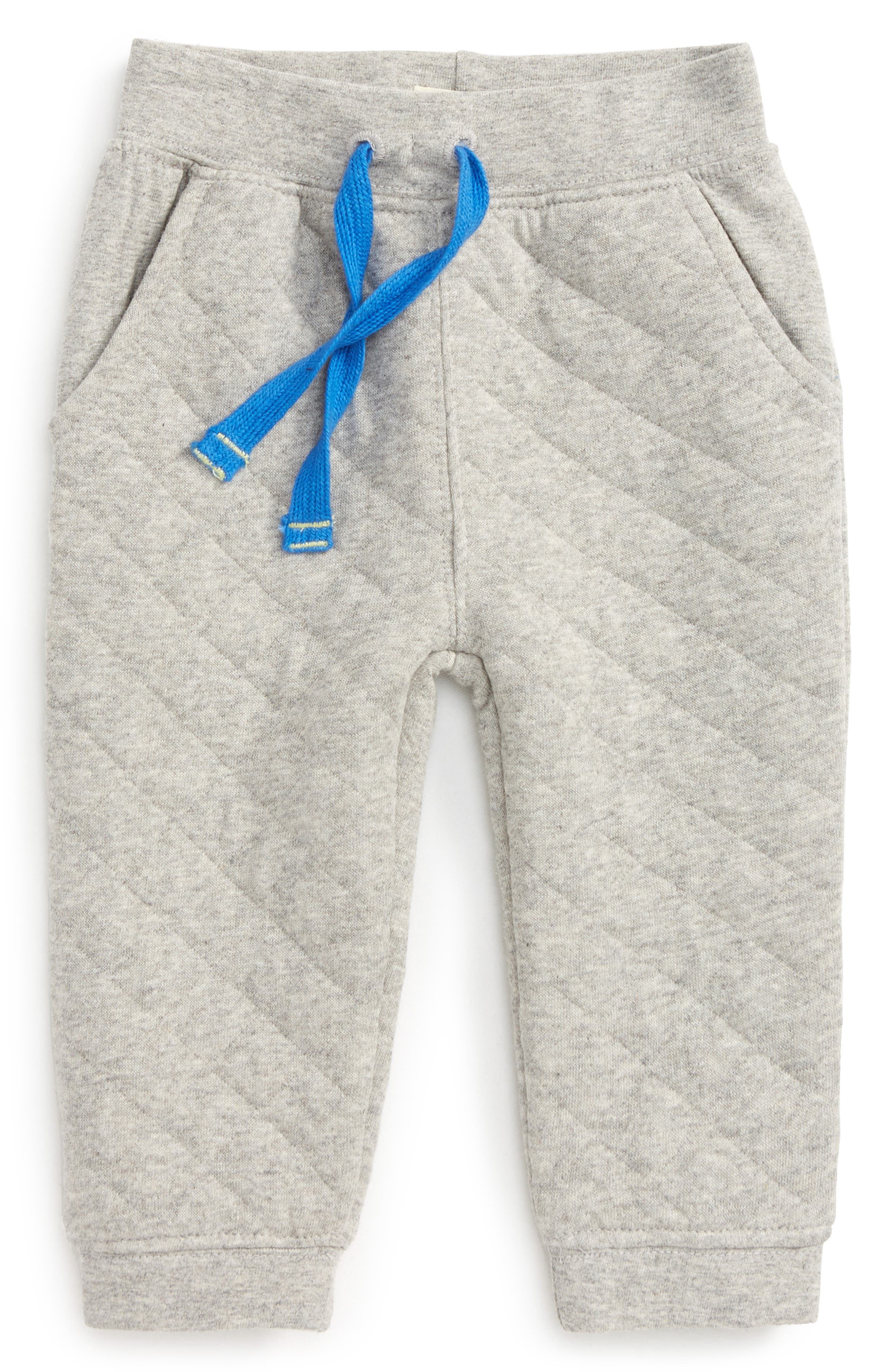Quilted Athletic Jogger Pants,                         Main,                         color, Grey