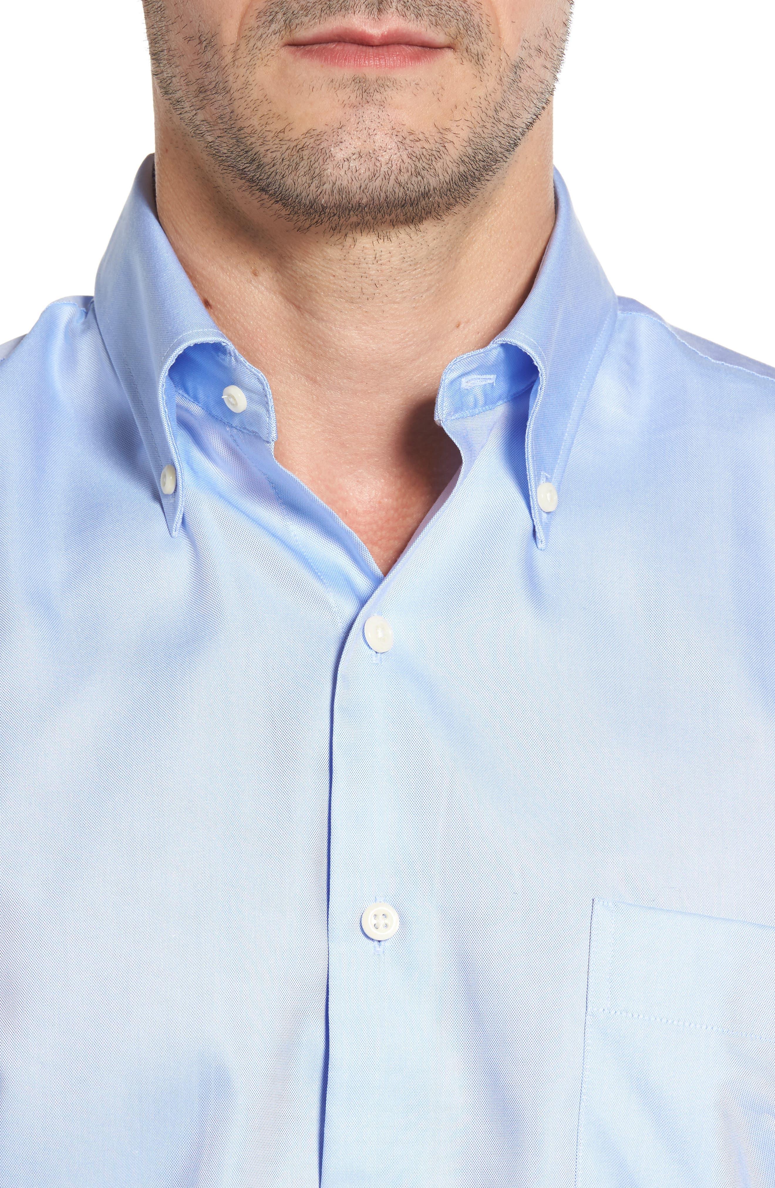 Alternate Image 4  - Peter Millar Crown Soft Pinpoint Regular Fit Sport Shirt