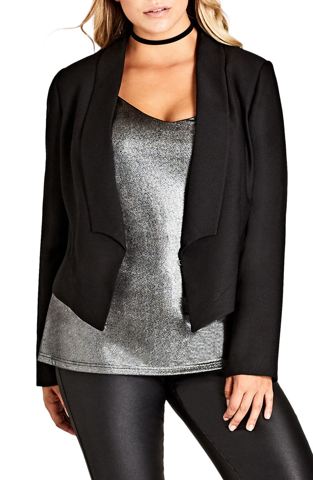 City Chic Chic Tuxe Jacket (Plus Size)