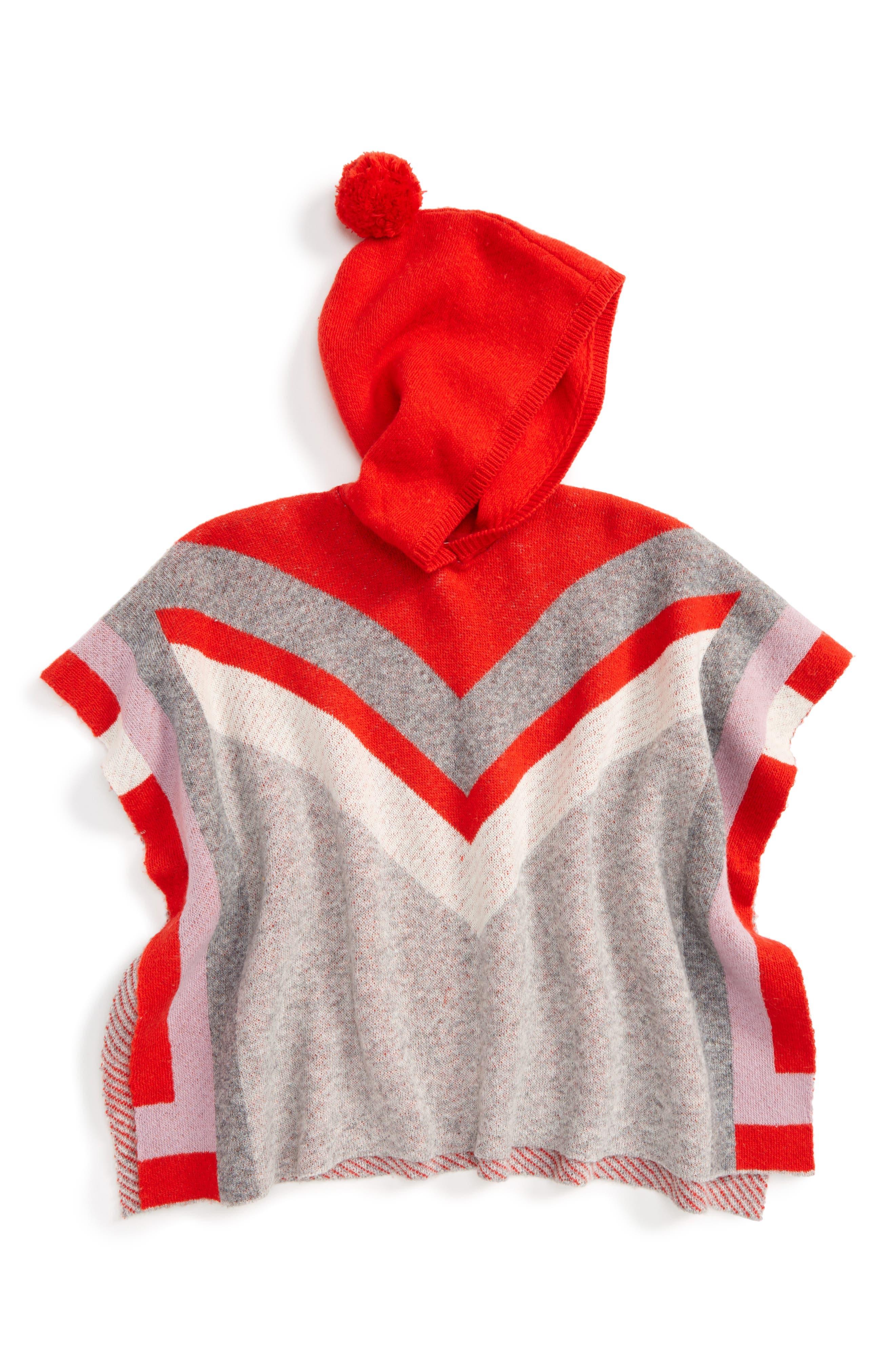 Stella McCartney Kids Bianca Stripe Hooded Poncho (Big Girls)