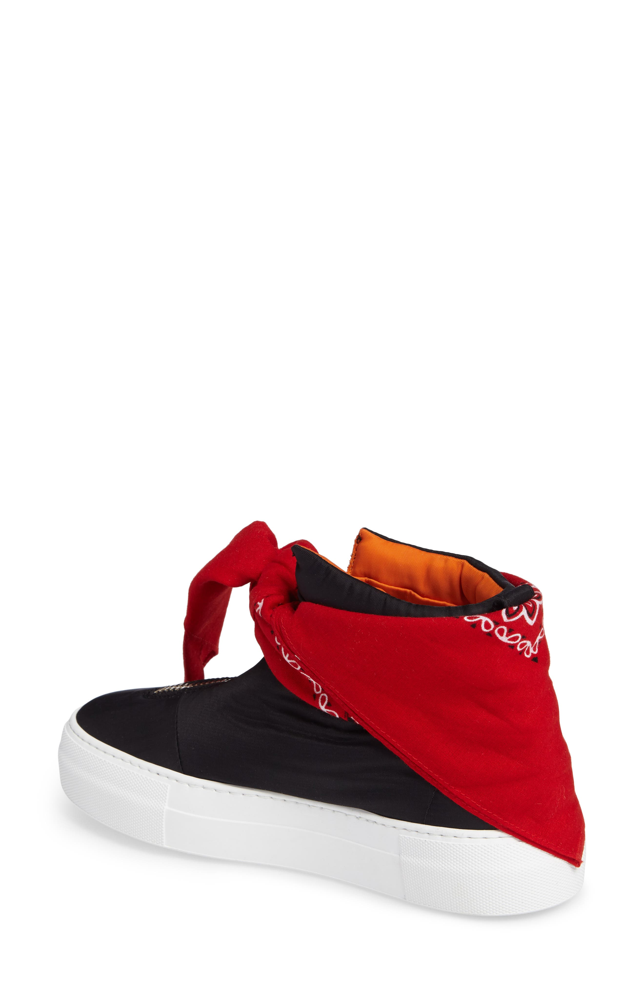 Bandana High Top Sneaker,                             Alternate thumbnail 2, color,                             Black