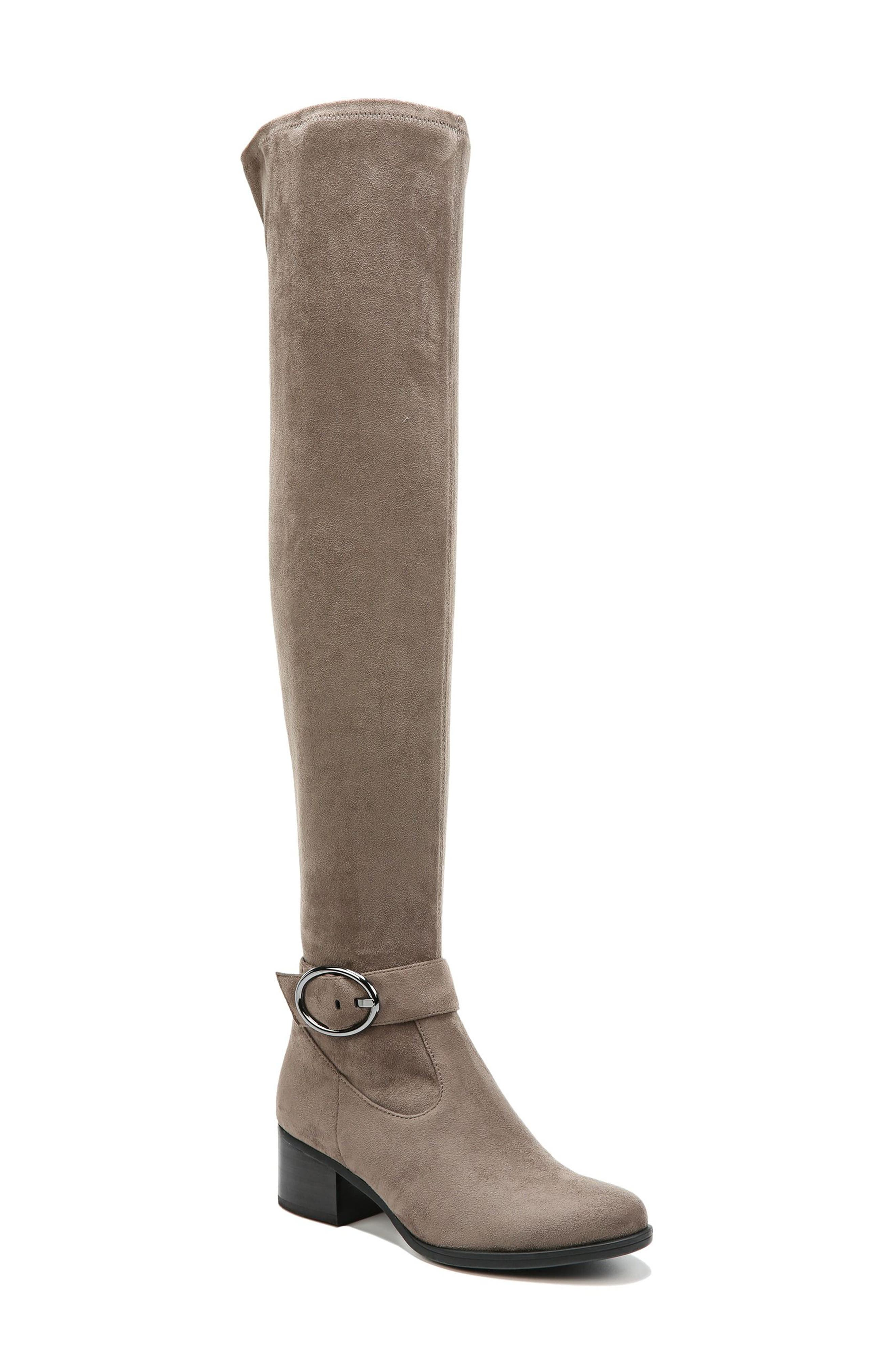 Dalyn Over the Knee Boot,                             Main thumbnail 1, color,                             Modern Grey Stretch Microfiber