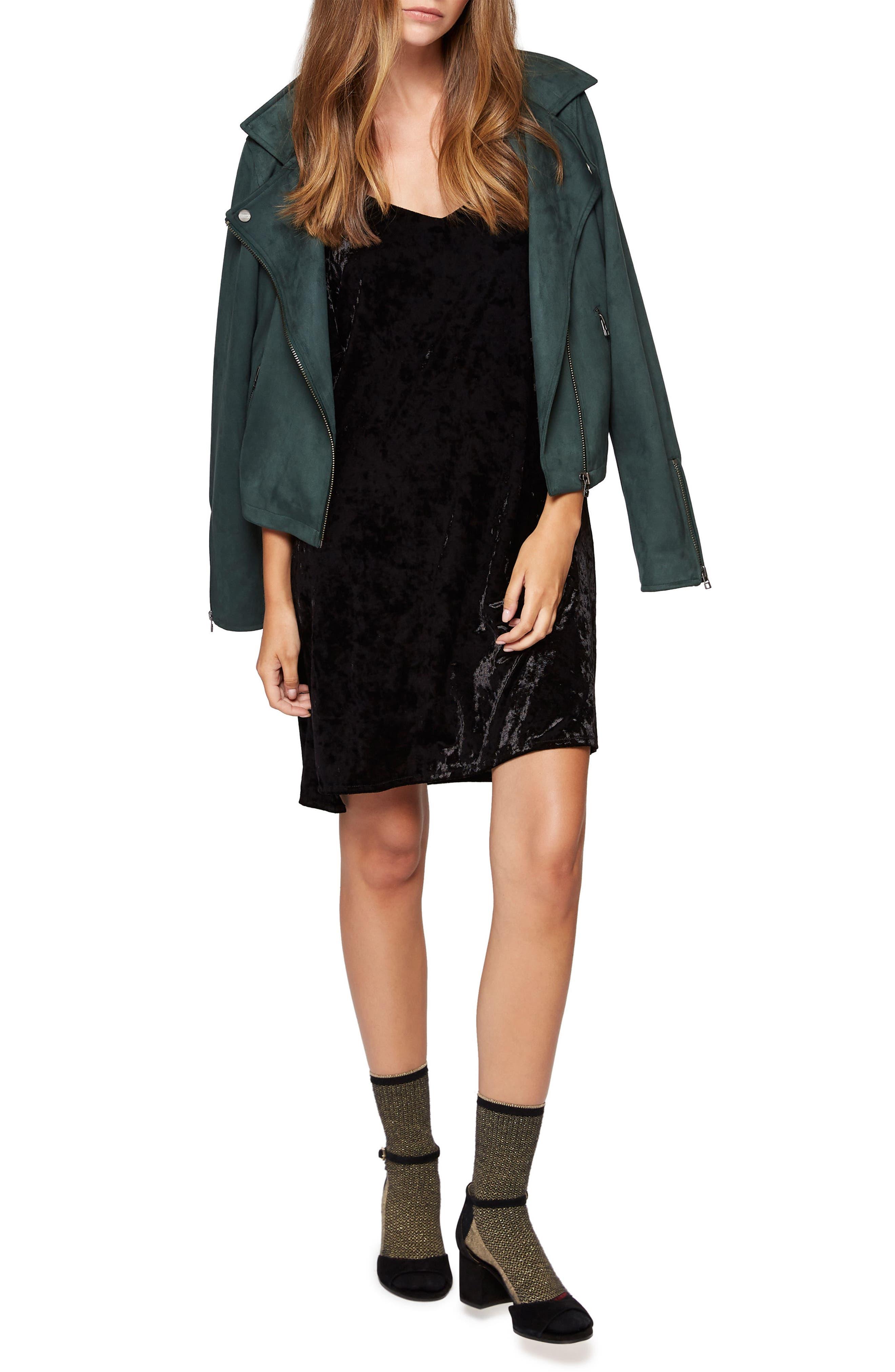 Alternate Image 2  - Sanctuary Drea Off the Shoulder Crushed Velvet Dress