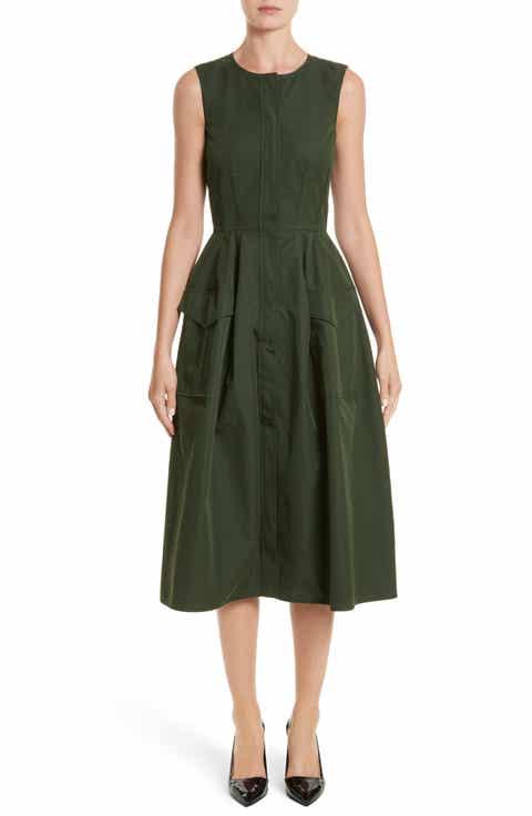 Oscar De La Renta Safari Micro Twill Dress