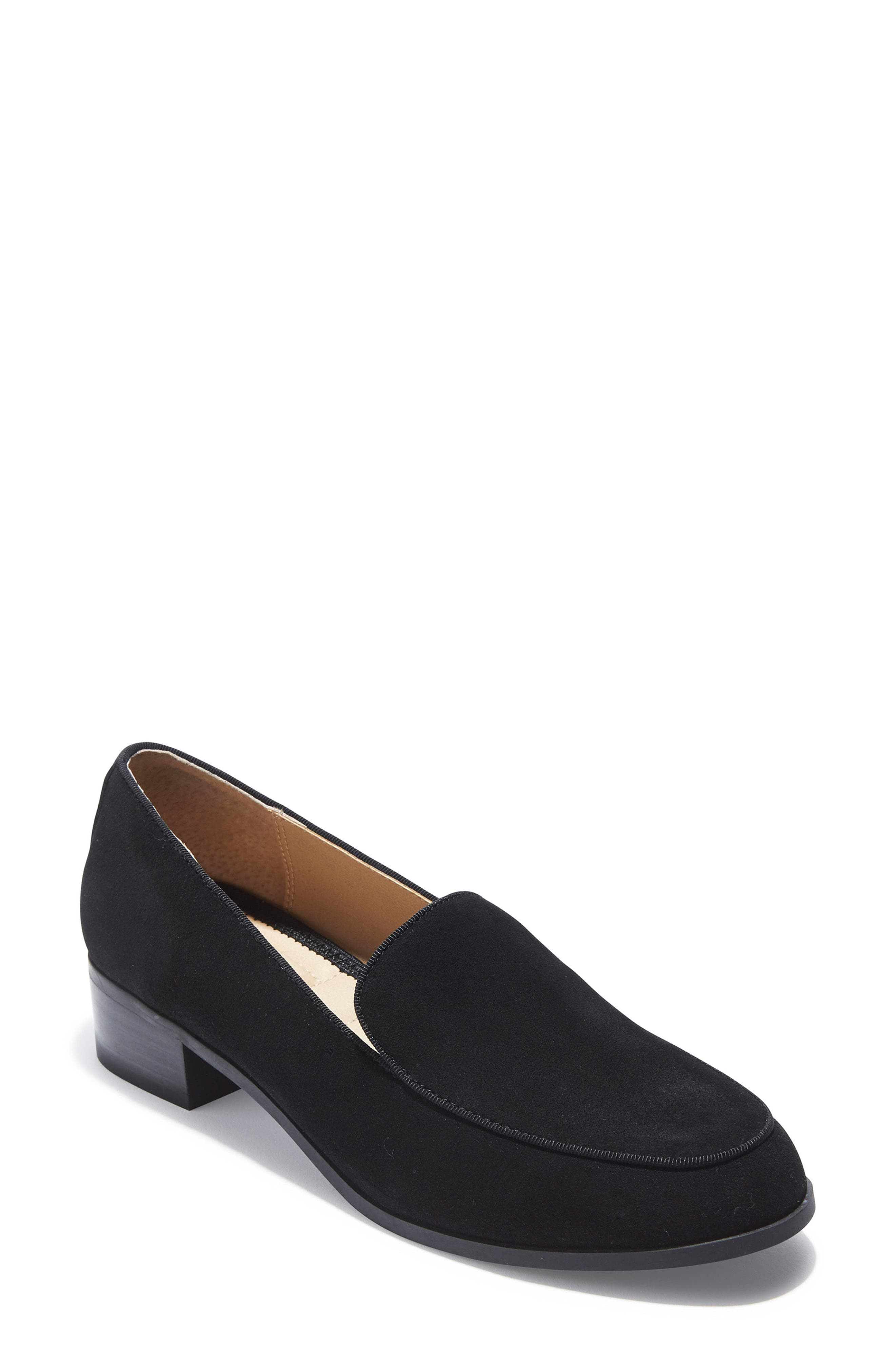 Jazzy Loafer,                             Main thumbnail 1, color,                             Black Suede