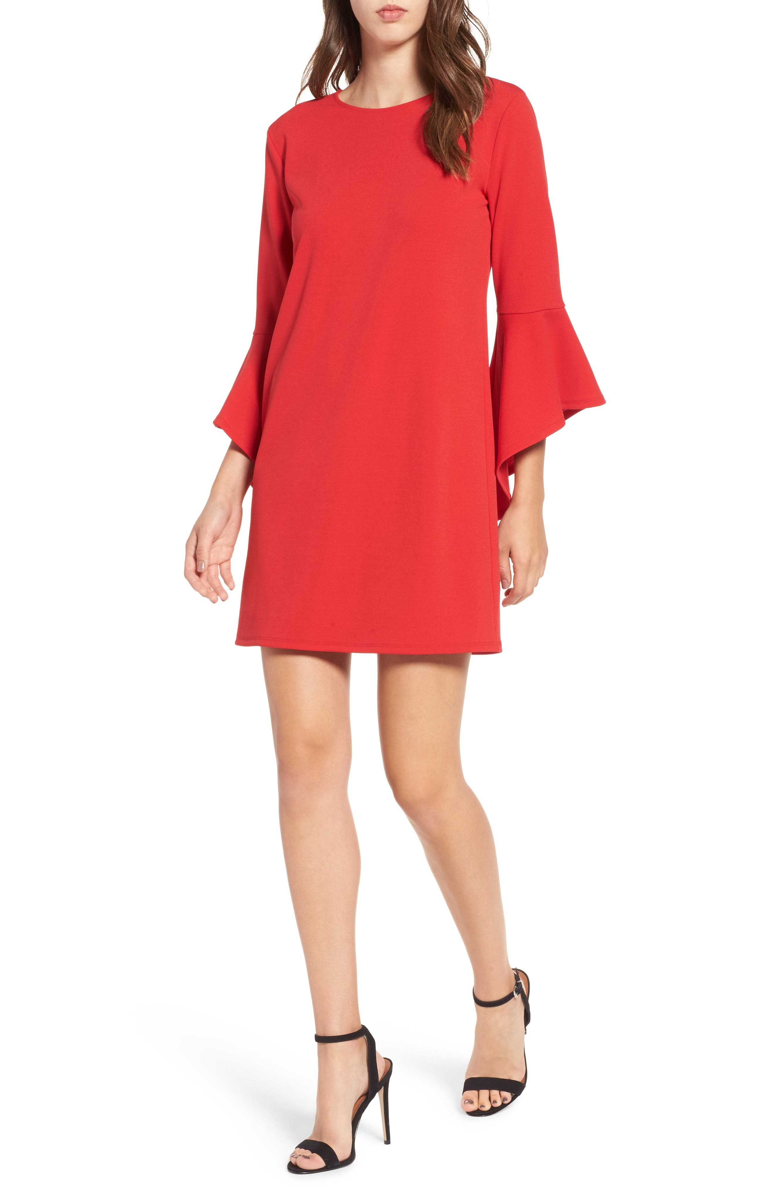 One Clothing Bell Sleeve Shift Dress
