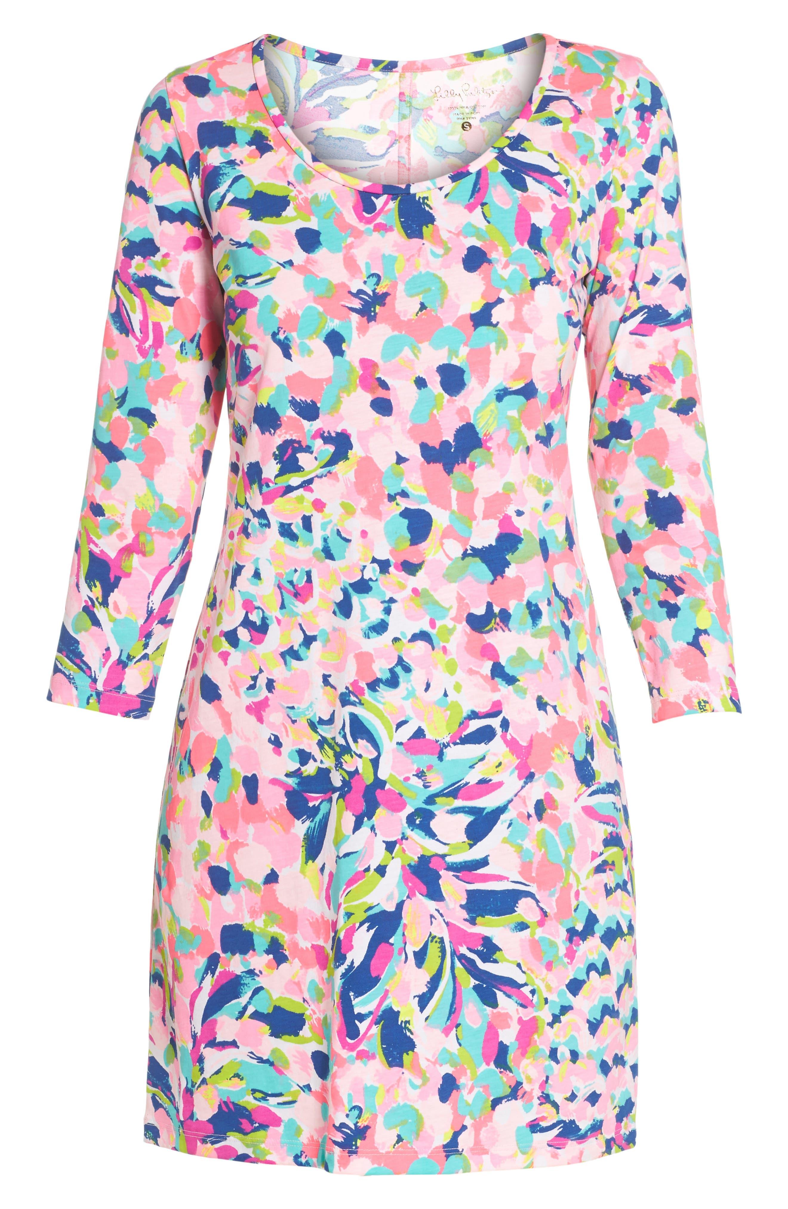 Beacon Shift Dress,                             Alternate thumbnail 6, color,                             Multi Pina Colada Club